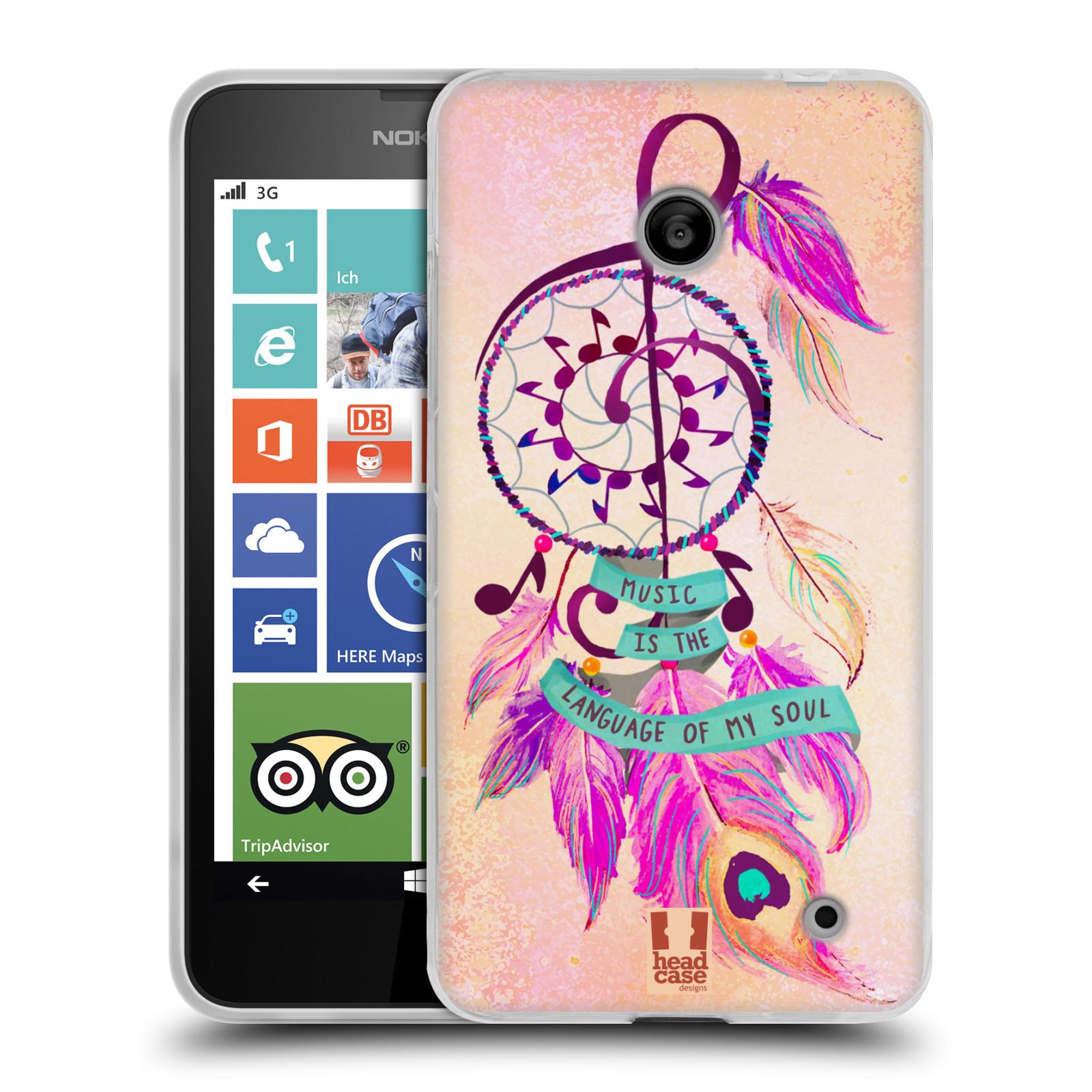 Silikonové pouzdro na mobil Nokia Lumia 630 HEAD CASE Lapač Assorted Music (Silikonový kryt či obal na mobilní telefon Nokia Lumia 630 a Nokia Lumia 630 Dual SIM)