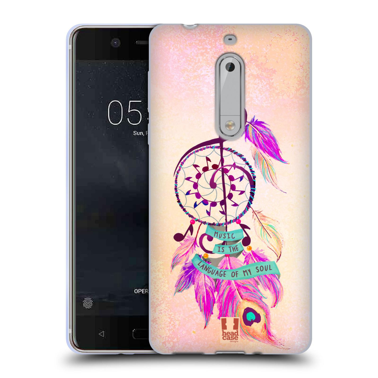 Silikonové pouzdro na mobil Nokia 5 Head Case - Lapač Assorted Music