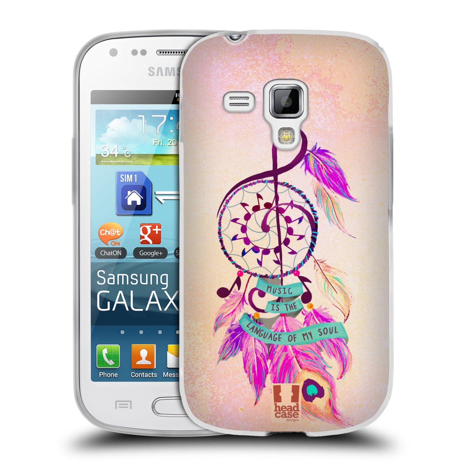 Silikonové pouzdro na mobil Samsung Galaxy Trend HEAD CASE Lapač Assorted Music (Silikonový kryt či obal na mobilní telefon Samsung Galaxy Trend GT-S7560)