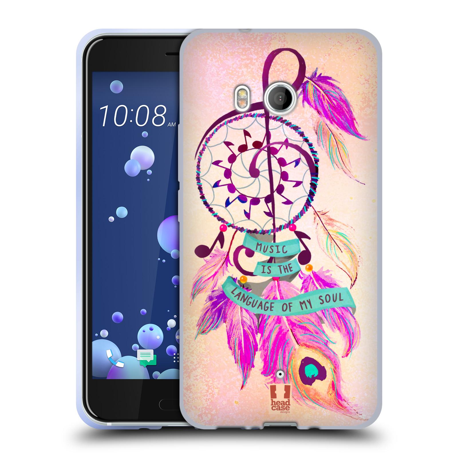 Silikonové pouzdro na mobil HTC U11 - Head Case - Lapač Assorted Music