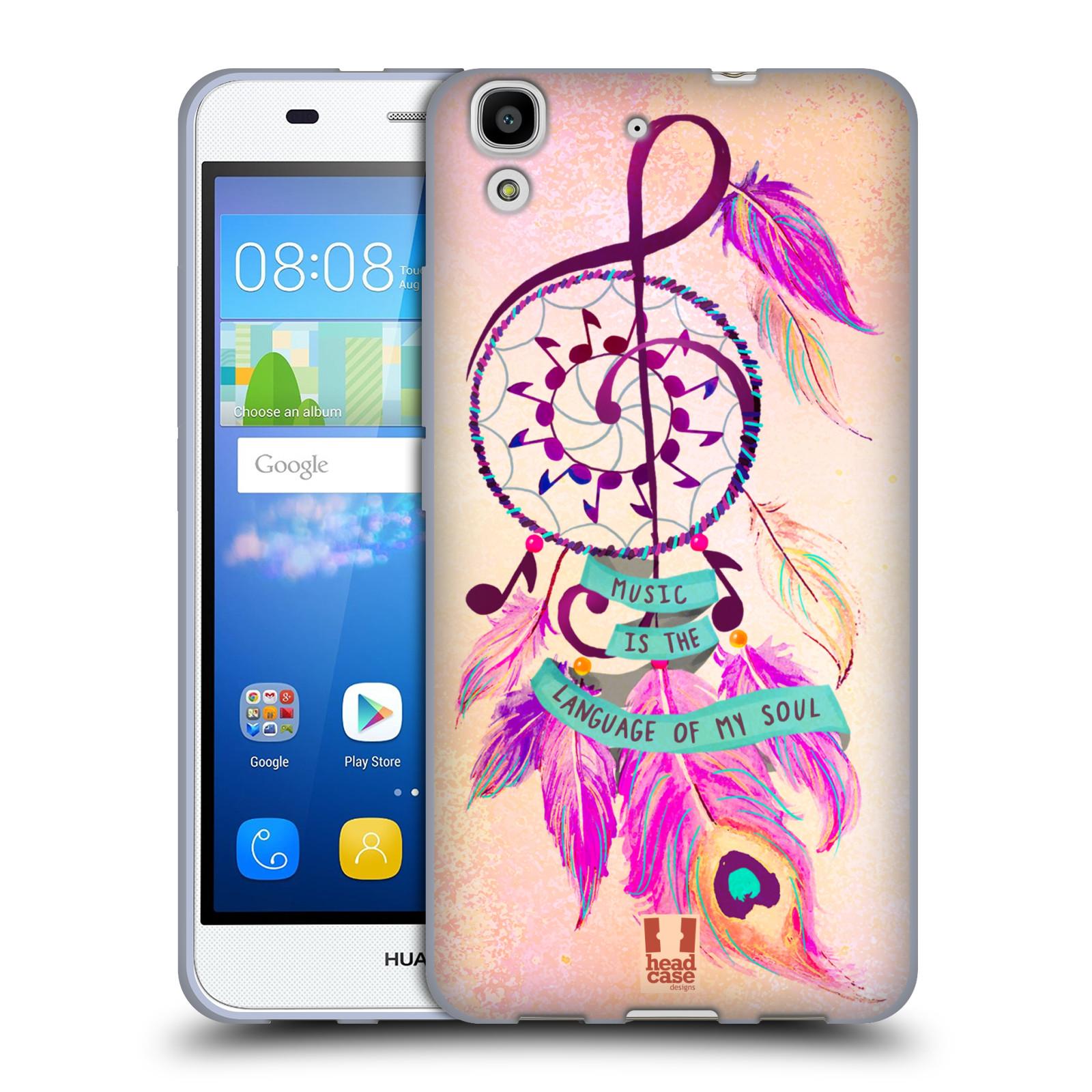 Silikonové pouzdro na mobil Huawei Y6 HEAD CASE Lapač Assorted Music