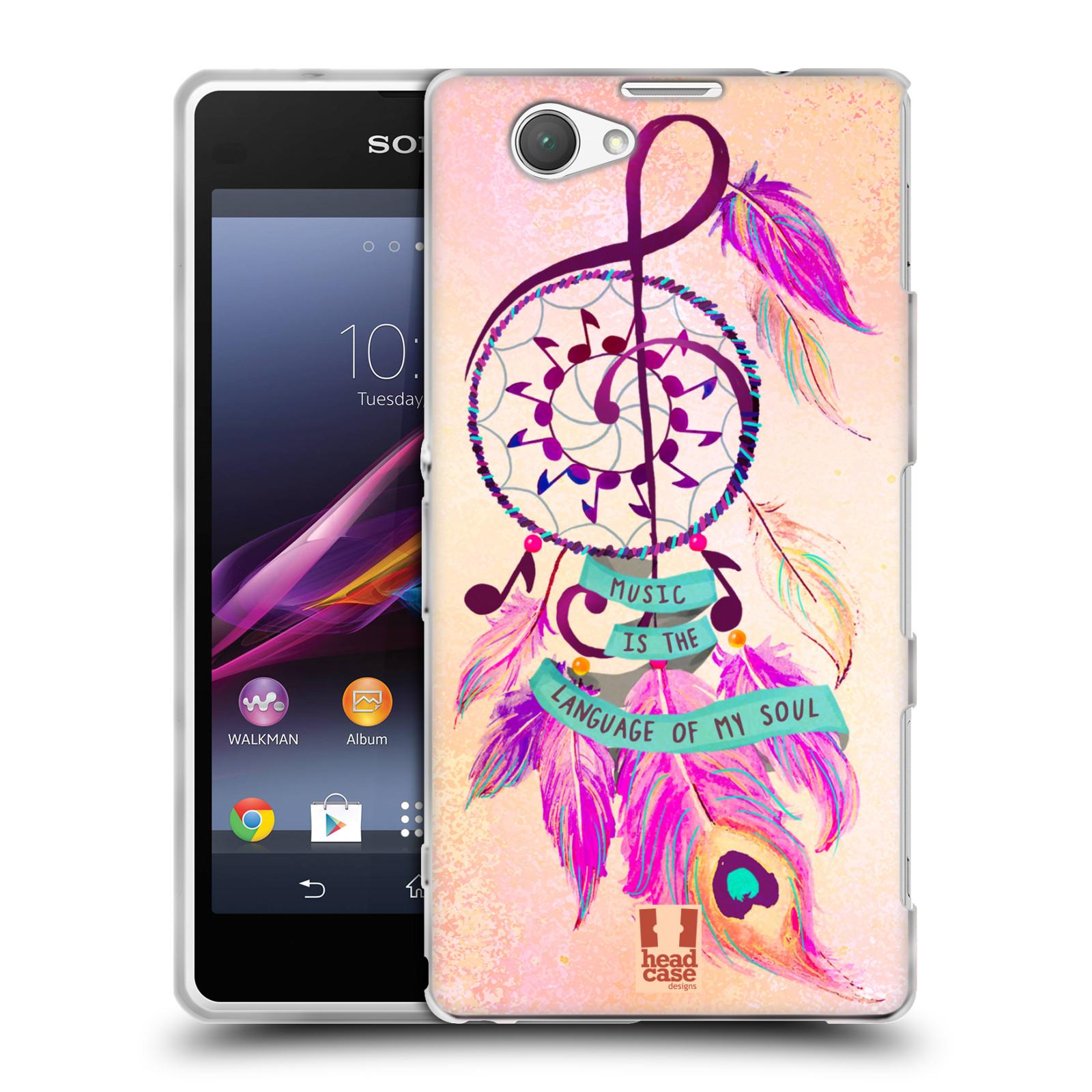 Silikonové pouzdro na mobil Sony Xperia Z1 Compact D5503 HEAD CASE Lapač Assorted Music (Silikonový kryt či obal na mobilní telefon Sony Xperia Z1 Compact)