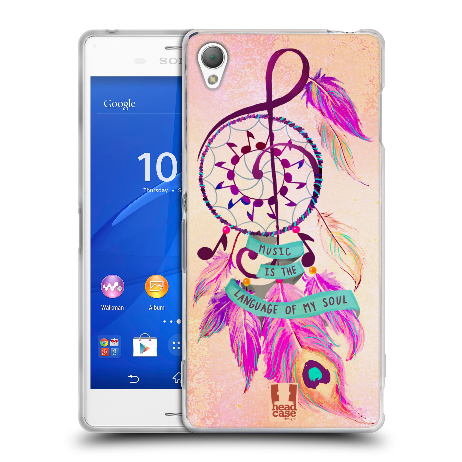 Silikonové pouzdro na mobil Sony Xperia Z3 D6603 HEAD CASE Lapač Assorted Music