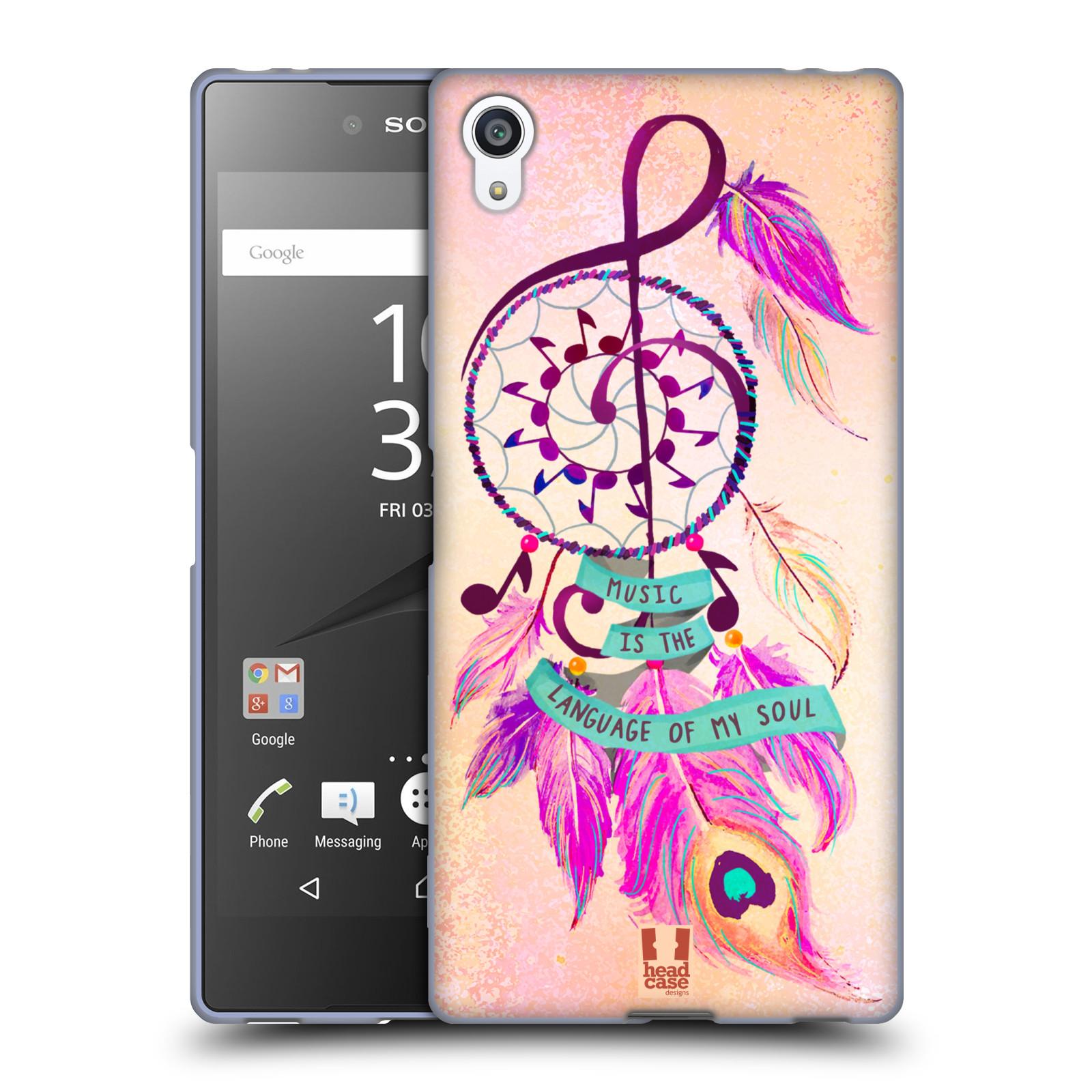 Silikonové pouzdro na mobil Sony Xperia Z5 Premium HEAD CASE Lapač Assorted Music