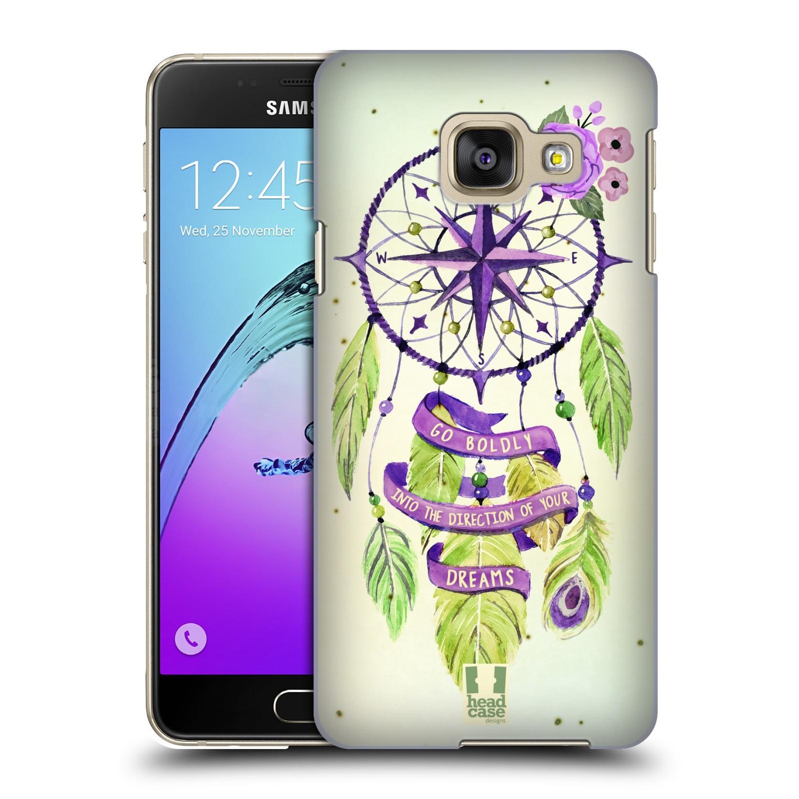 Plastové pouzdro na mobil Samsung Galaxy A3 (2016) HEAD CASE Lapač Assorted Compass