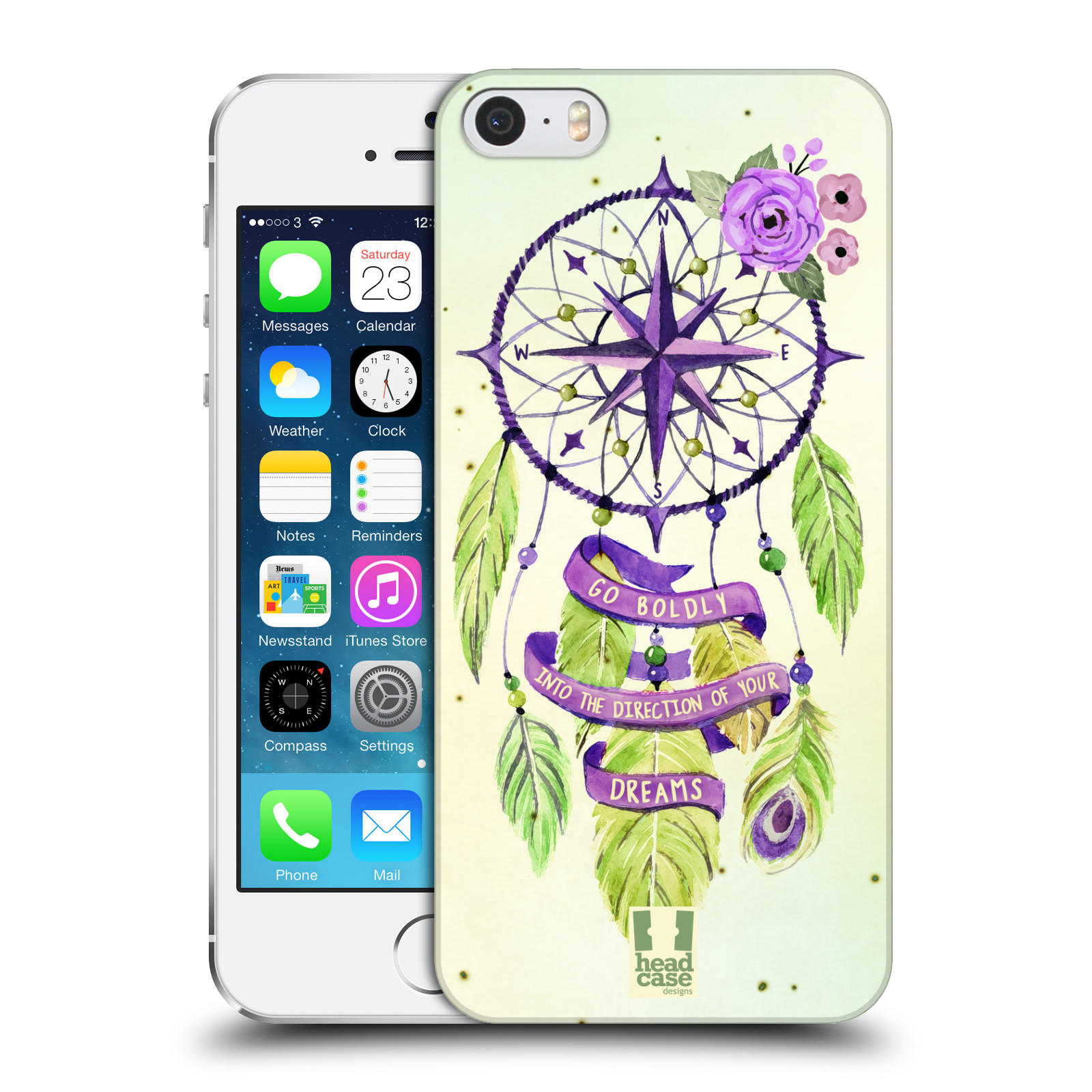 Plastové pouzdro na mobil Apple iPhone SE, 5 a 5S HEAD CASE Lapač Assorted Compass