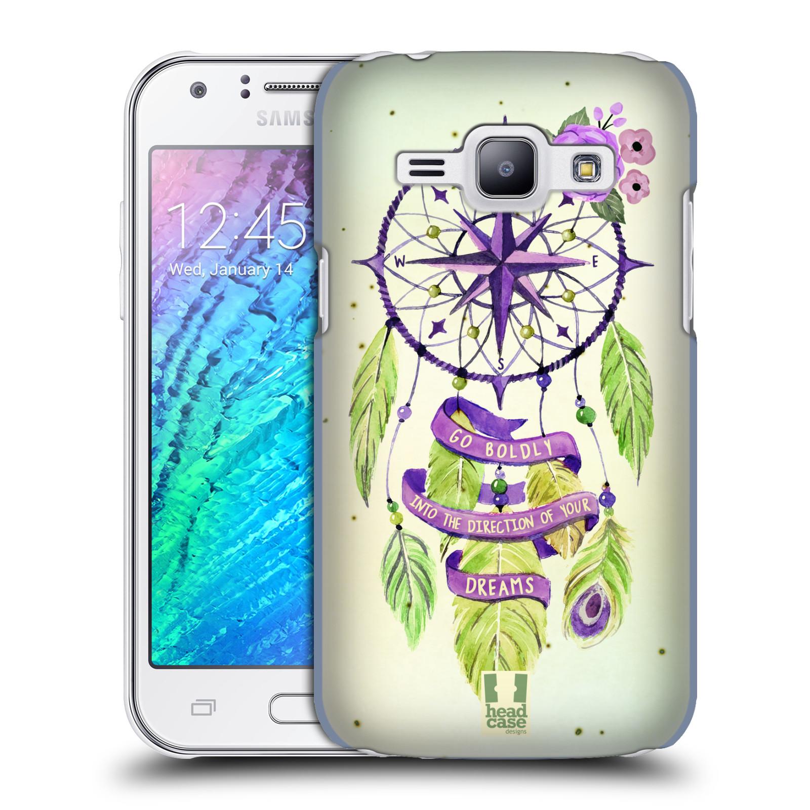 Plastové pouzdro na mobil Samsung Galaxy J1 HEAD CASE Lapač Assorted Compass (Kryt či obal na mobilní telefon Samsung Galaxy J1 a J1 Duos )