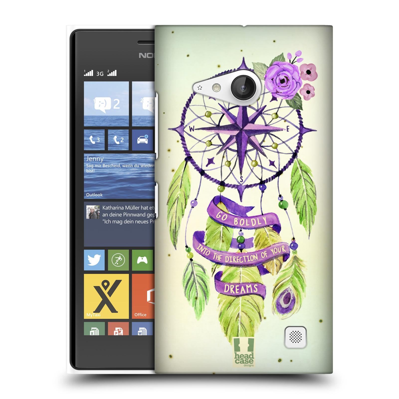 Plastové pouzdro na mobil Nokia Lumia 730 Dual SIM HEAD CASE Lapač Assorted Compass