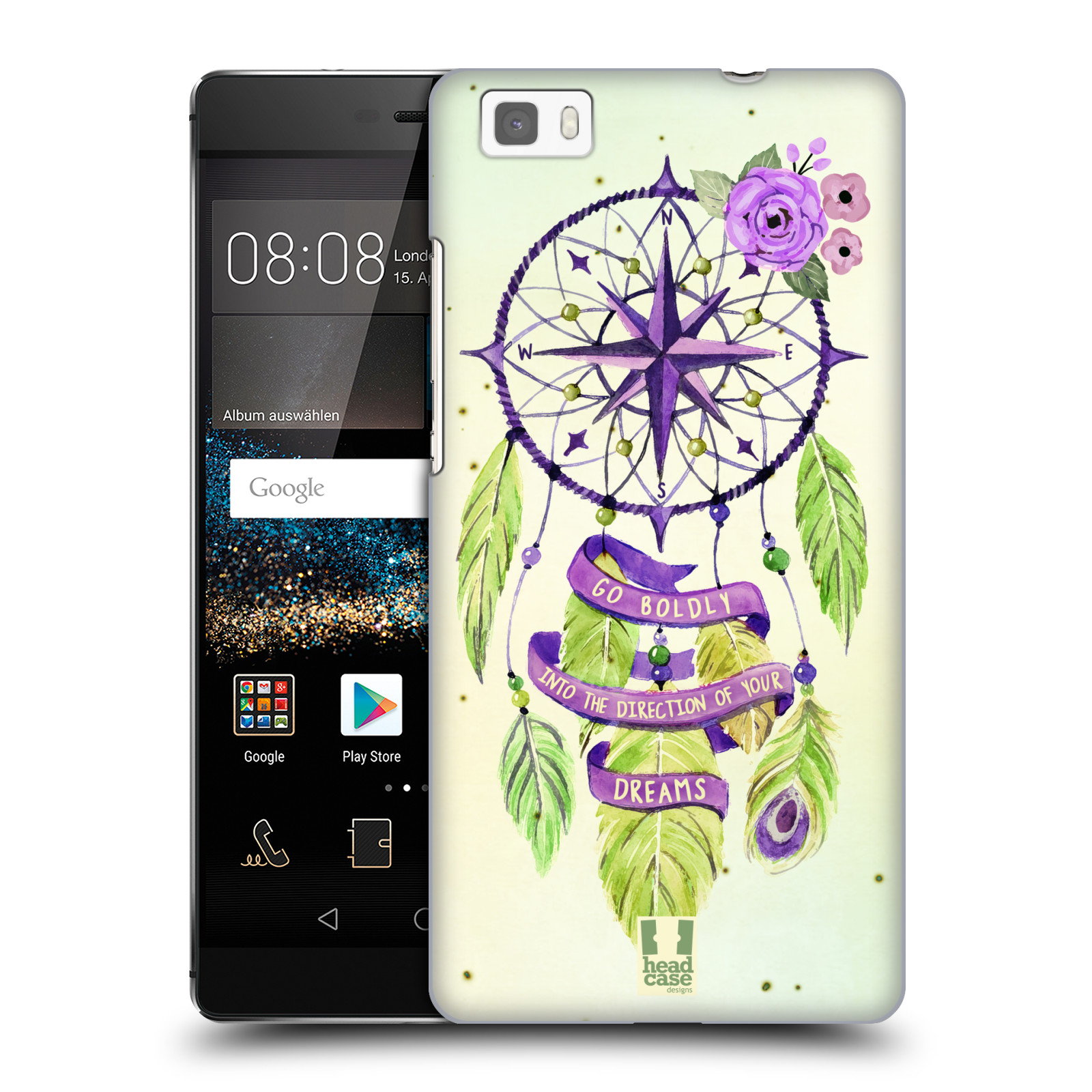Plastové pouzdro na mobil Huawei P8 Lite HEAD CASE Lapač Assorted Compass