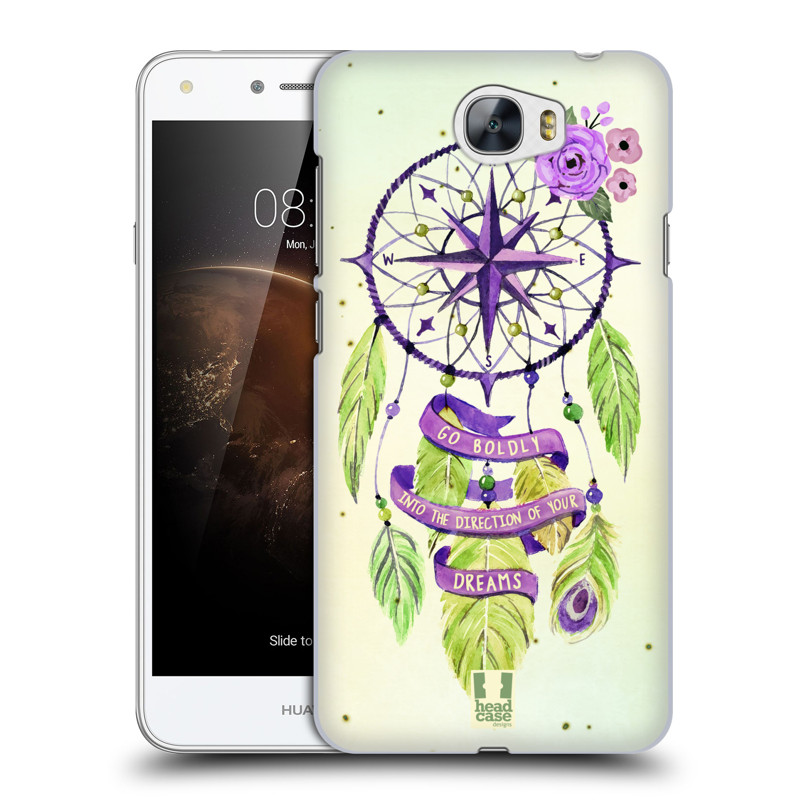 Plastové pouzdro na mobil Huawei Y5 II HEAD CASE Lapač Assorted Compass