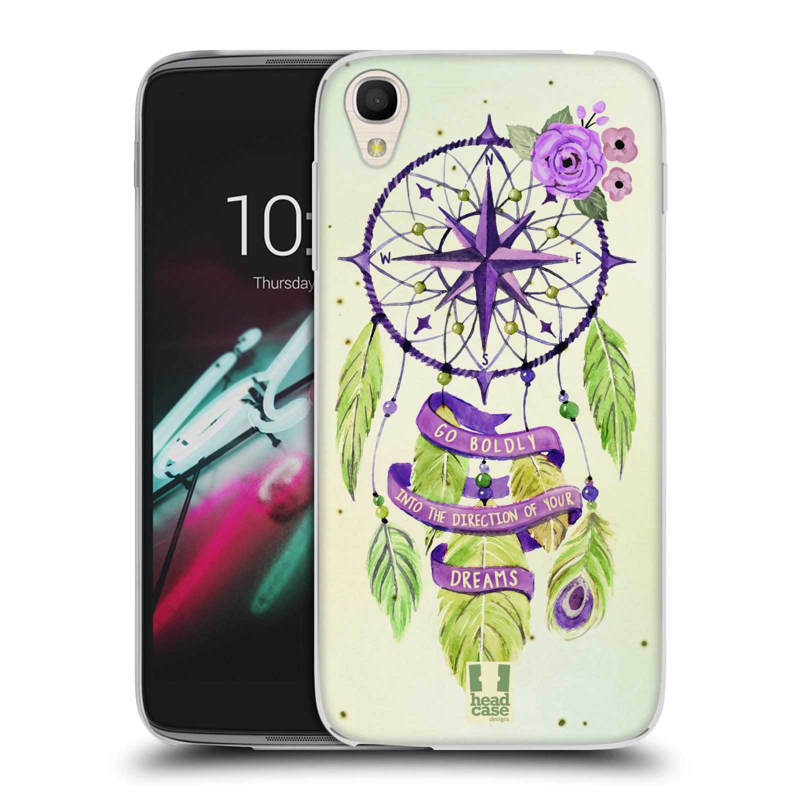 "Silikonové pouzdro na mobil Alcatel One Touch 6039Y Idol 3 HEAD CASE Lapač Assorted Compass (Silikonový kryt či obal na mobilní telefon Alcatel One Touch Idol 3 OT-6039Y s 4,7"" displejem)"