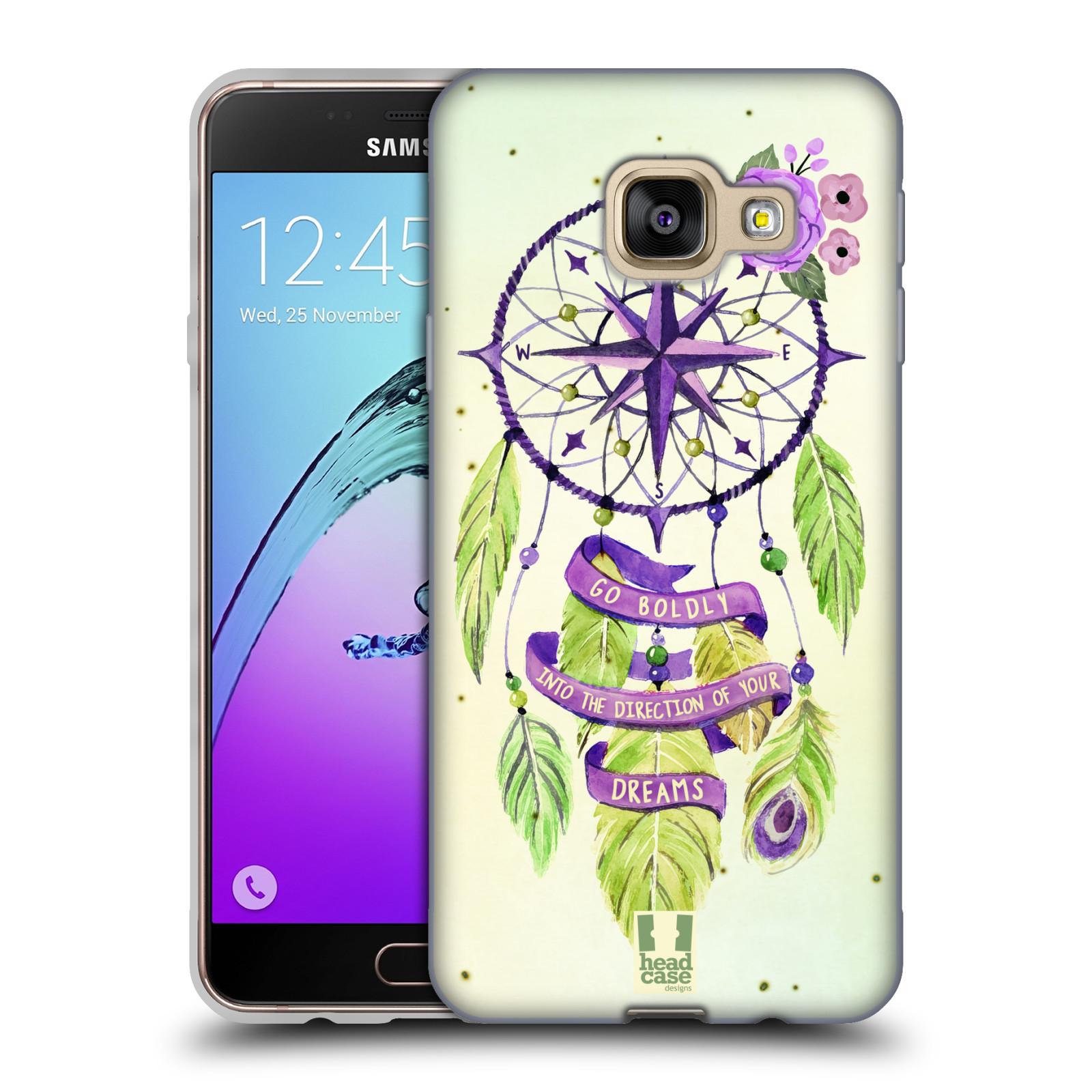 Silikonové pouzdro na mobil Samsung Galaxy A3 (2016) HEAD CASE Lapač Assorted Compass