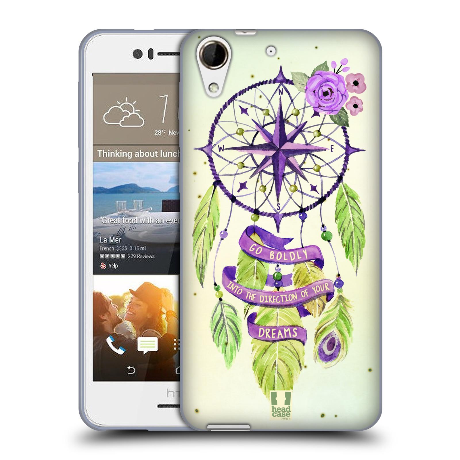 Silikonové pouzdro na mobil HTC Desire 728G Dual SIM HEAD CASE Lapač Assorted Compass (Silikonový kryt či obal na mobilní telefon HTC Desire 728 G Dual SIM)