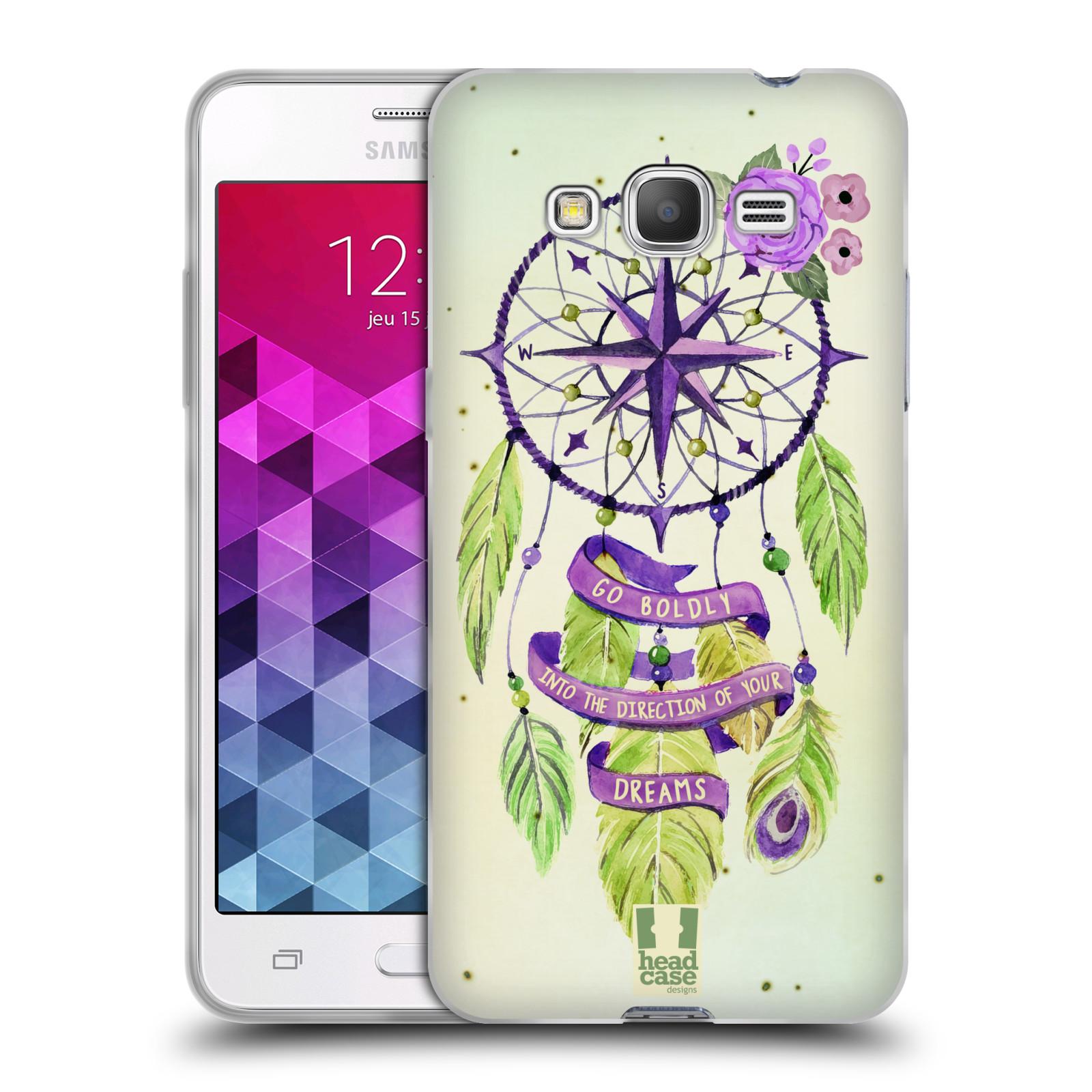 Silikonové pouzdro na mobil Samsung Galaxy Grand Prime HEAD CASE Lapač Assorted Compass