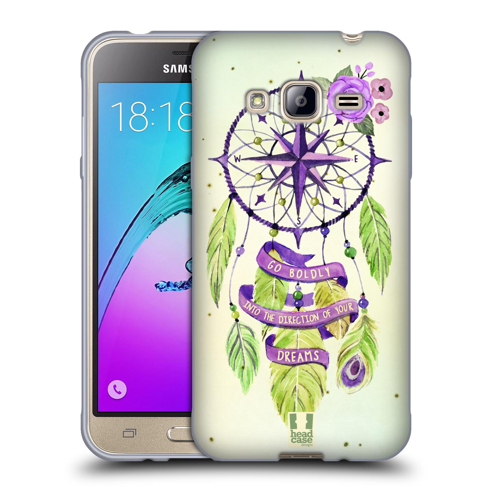 Silikonové pouzdro na mobil Samsung Galaxy J3 (2016) HEAD CASE Lapač Assorted Compass