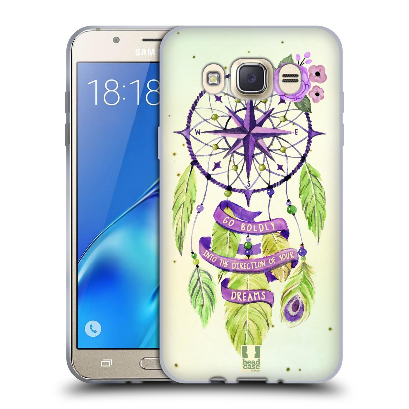 Silikonové pouzdro na mobil Samsung Galaxy J7 (2016) HEAD CASE Lapač Assorted Compass