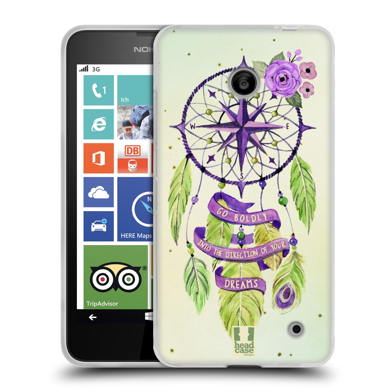 Silikonové pouzdro na mobil Nokia Lumia 635 HEAD CASE Lapač Assorted Compass (Silikonový kryt či obal na mobilní telefon Nokia Lumia 635 Dual SIM)