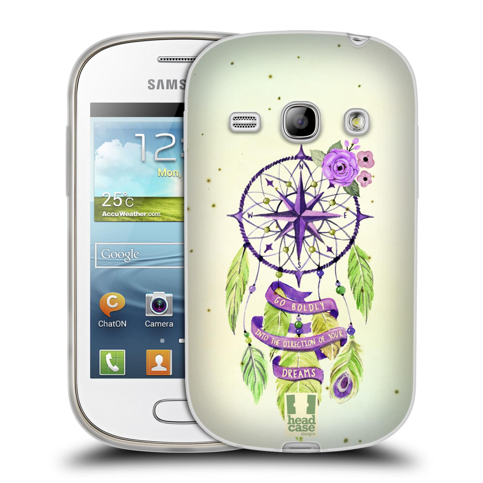Silikonové pouzdro na mobil Samsung Galaxy Fame HEAD CASE Lapač Assorted Compass (Silikonový kryt či obal na mobilní telefon Samsung Galaxy Fame GT-S6810)