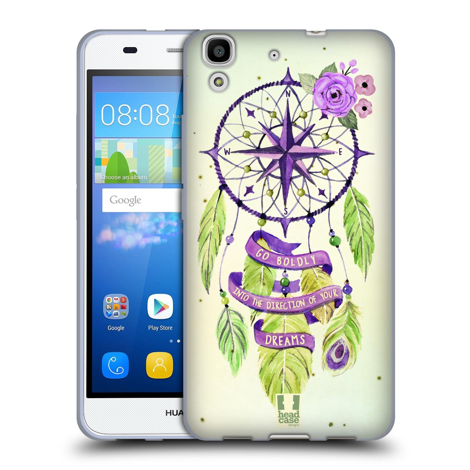 Silikonové pouzdro na mobil Huawei Y6 HEAD CASE Lapač Assorted Compass