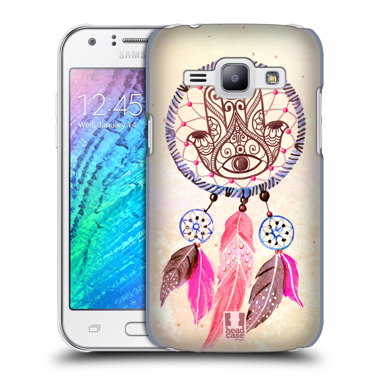 Plastové pouzdro na mobil Samsung Galaxy J1 HEAD CASE Lapač Assorted Hamsa (Kryt či obal na mobilní telefon Samsung Galaxy J1 a J1 Duos )