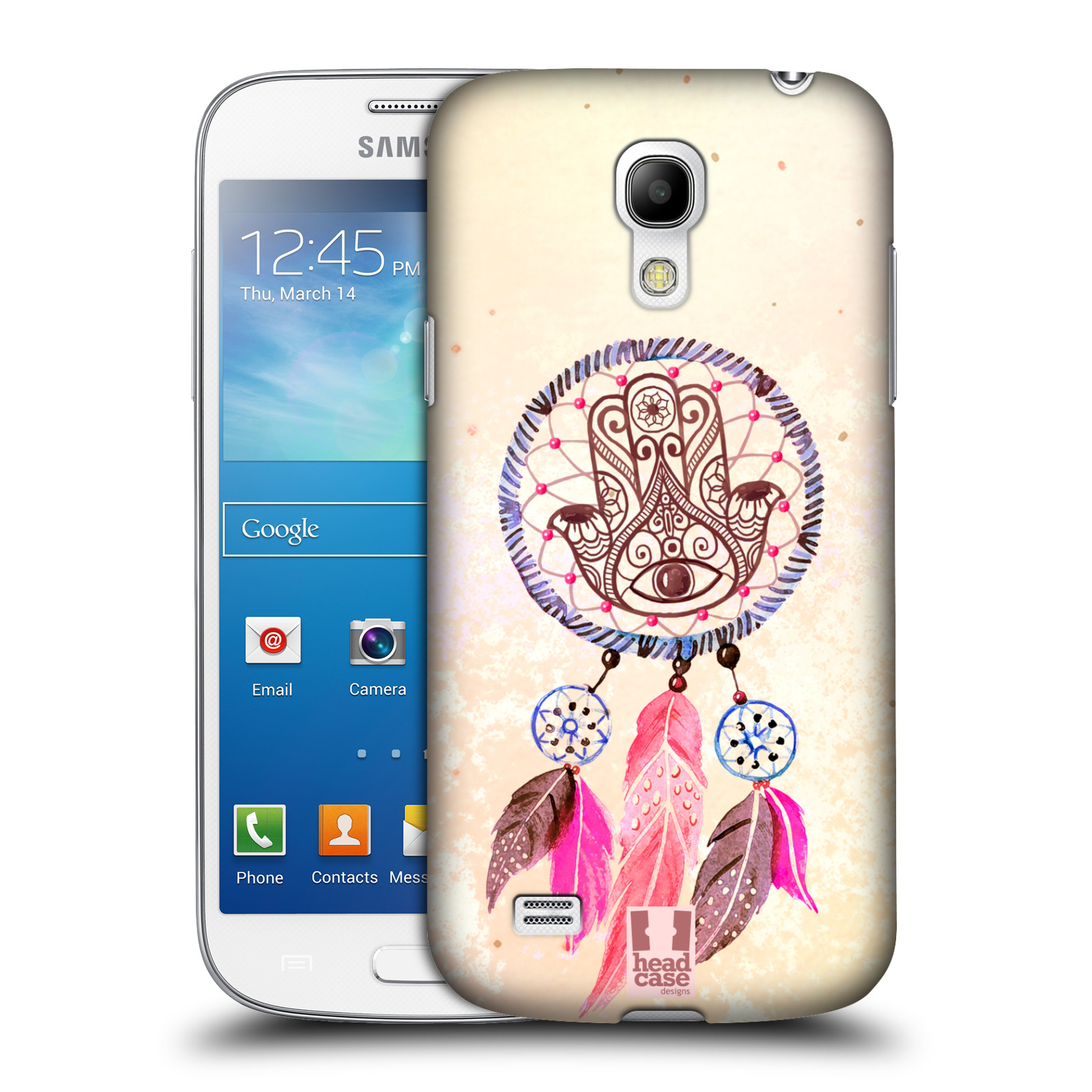 Plastové pouzdro na mobil Samsung Galaxy S4 Mini HEAD CASE Lapač Assorted Hamsa (Kryt či obal na mobilní telefon Samsung Galaxy S4 Mini GT-i9195 / i9190)