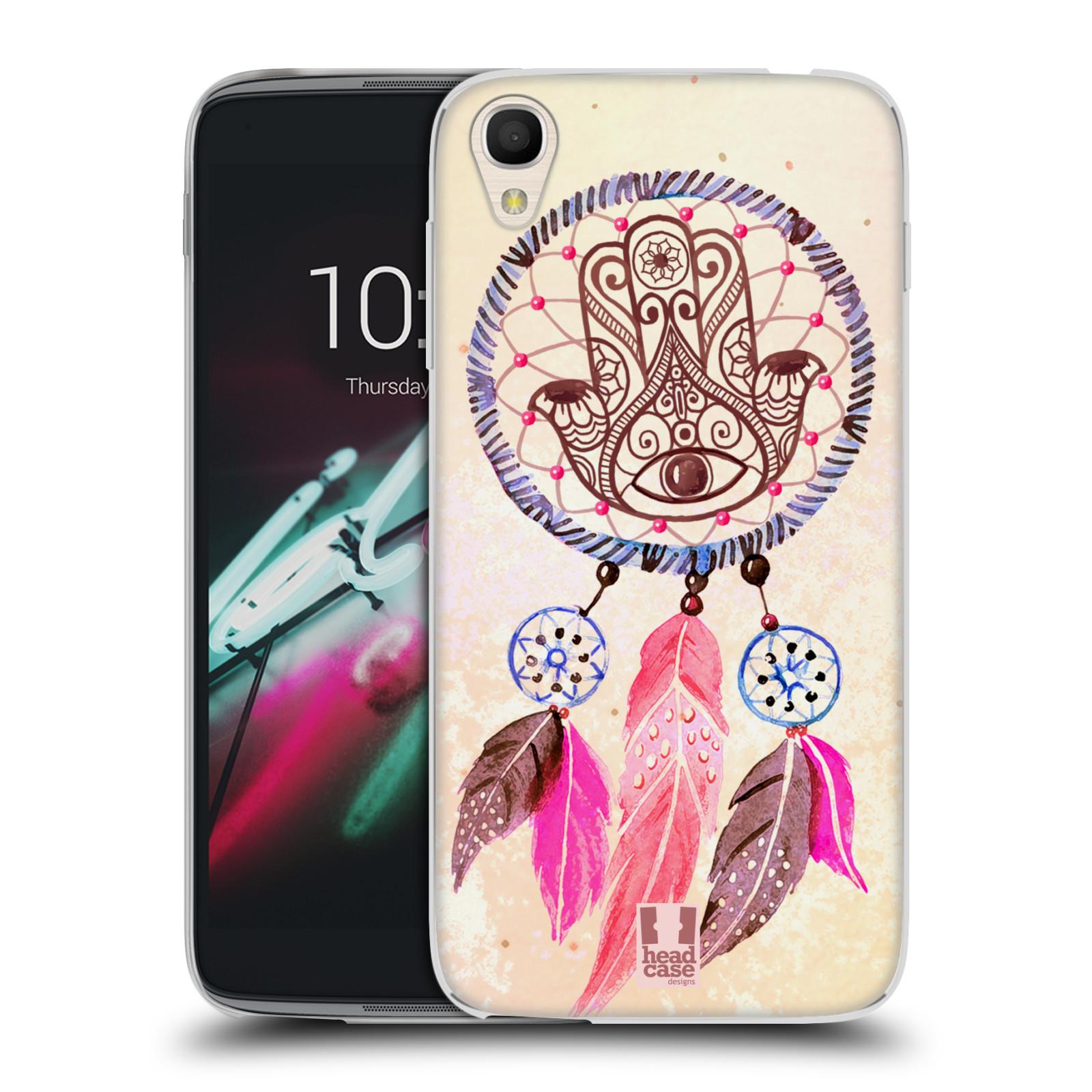 "Silikonové pouzdro na mobil Alcatel One Touch 6039Y Idol 3 HEAD CASE Lapač Assorted Hamsa (Silikonový kryt či obal na mobilní telefon Alcatel One Touch Idol 3 OT-6039Y s 4,7"" displejem)"