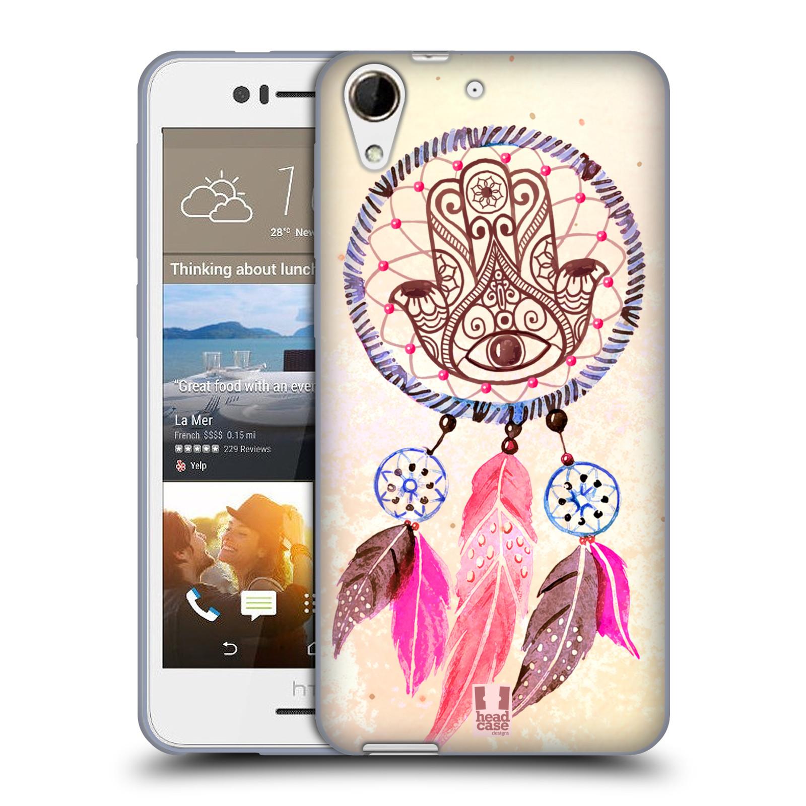 Silikonové pouzdro na mobil HTC Desire 728G Dual SIM HEAD CASE Lapač Assorted Hamsa (Silikonový kryt či obal na mobilní telefon HTC Desire 728 G Dual SIM)