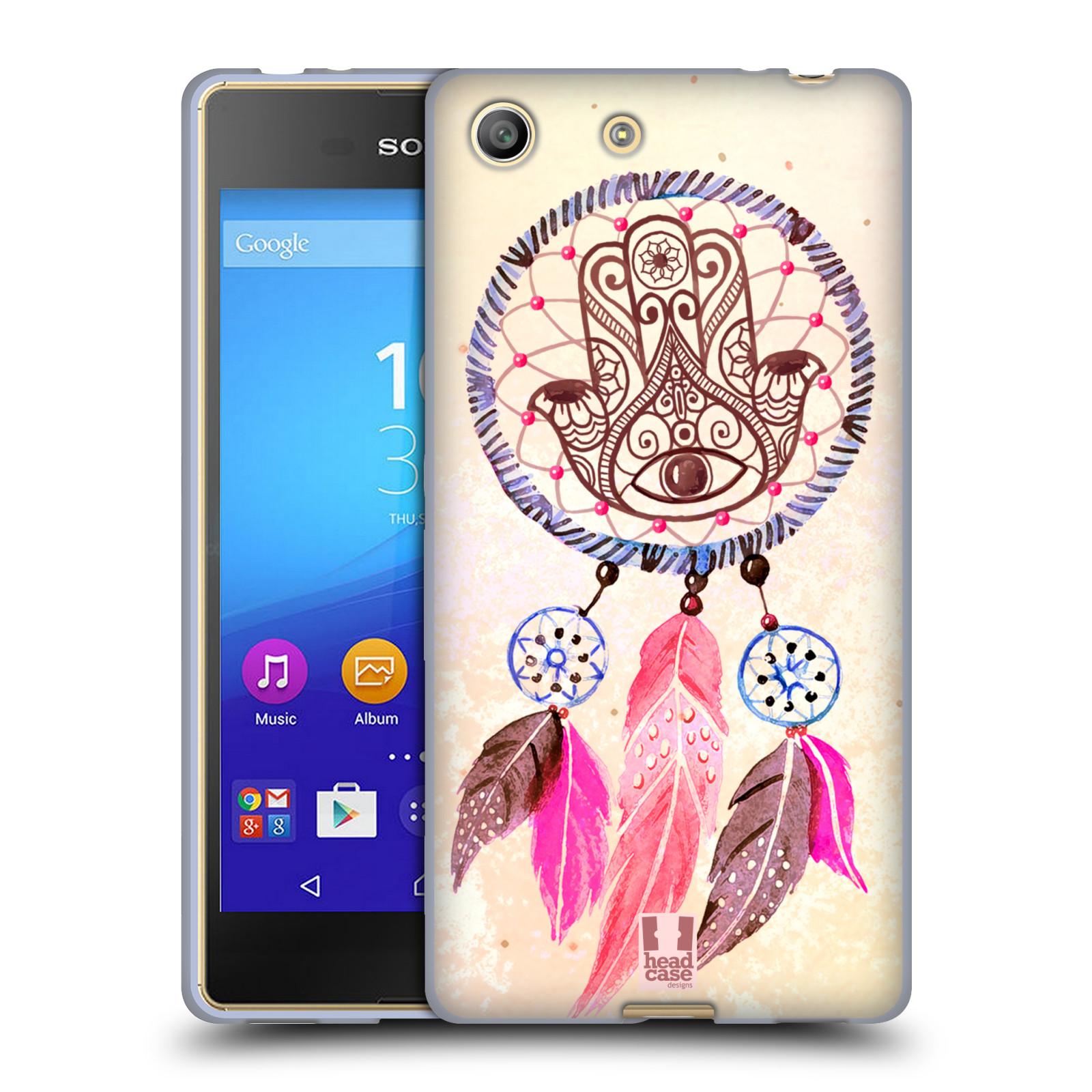 Silikonové pouzdro na mobil Sony Xperia M5 HEAD CASE Lapač Assorted Hamsa (Silikonový kryt či obal na mobilní telefon Sony Xperia M5 Dual SIM / Aqua)