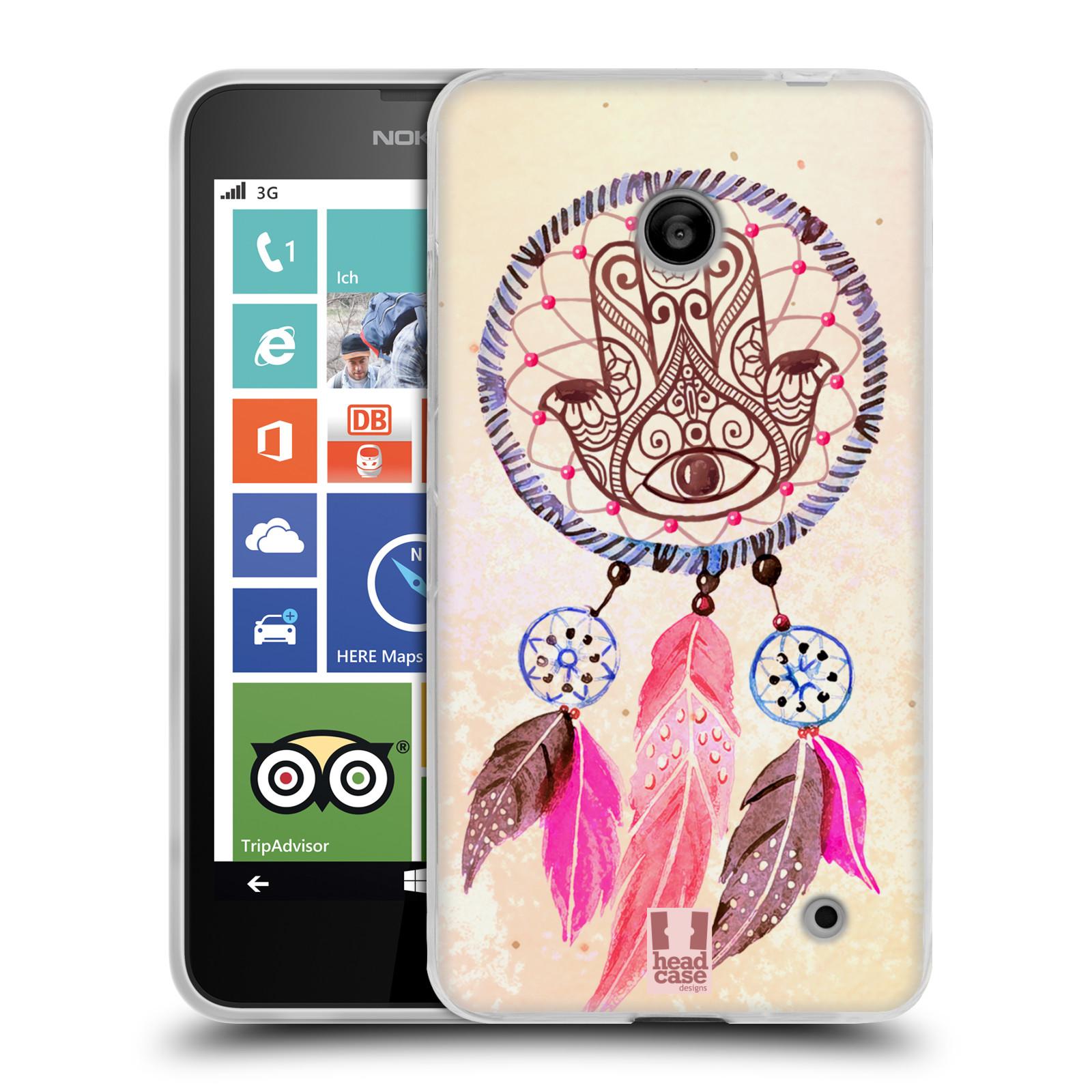 Silikonové pouzdro na mobil Nokia Lumia 635 HEAD CASE Lapač Assorted Hamsa (Silikonový kryt či obal na mobilní telefon Nokia Lumia 635 Dual SIM)