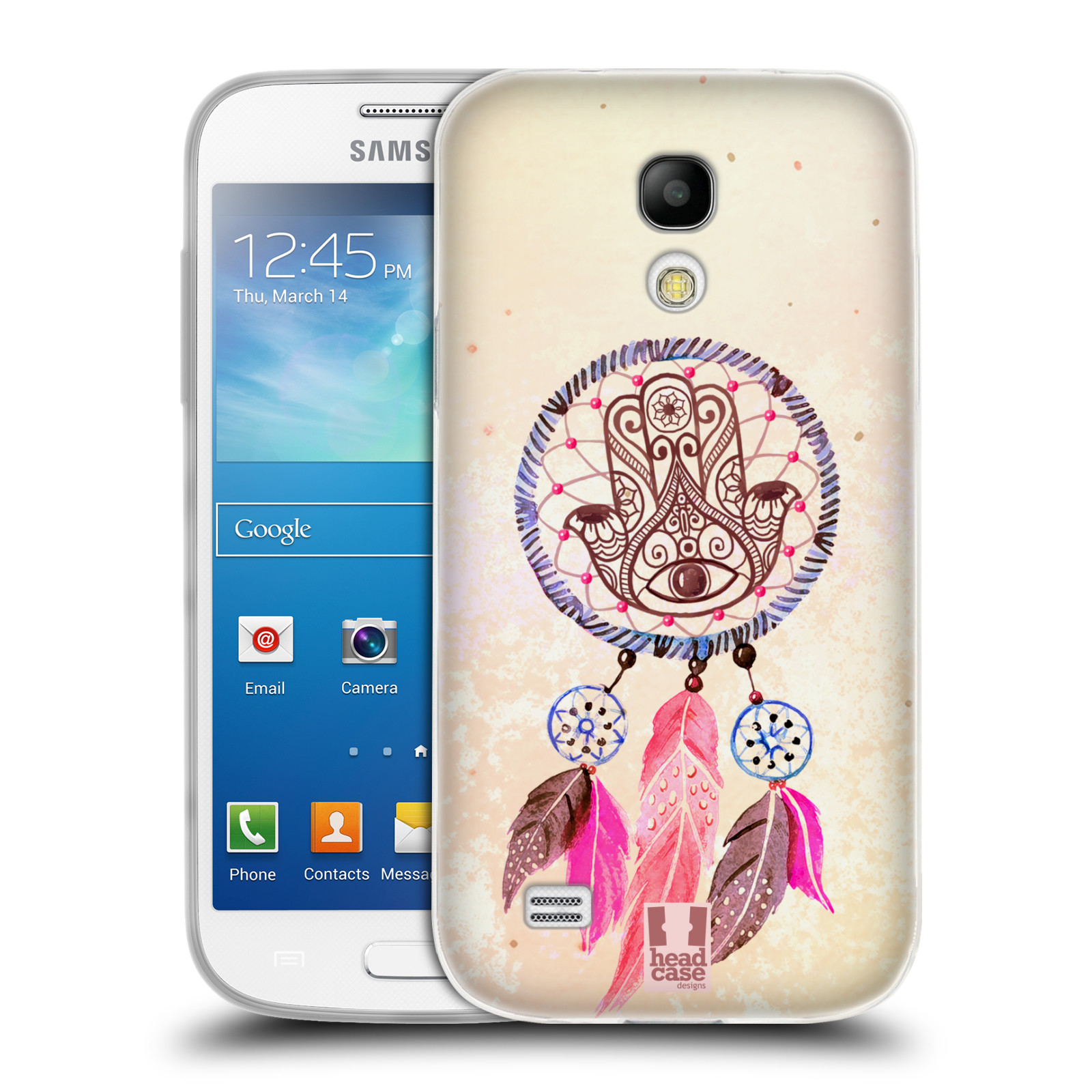 Silikonové pouzdro na mobil Samsung Galaxy S4 Mini HEAD CASE Lapač Assorted Hamsa (Silikonový kryt či obal na mobilní telefon Samsung Galaxy S4 Mini GT-i9195 / i9190)
