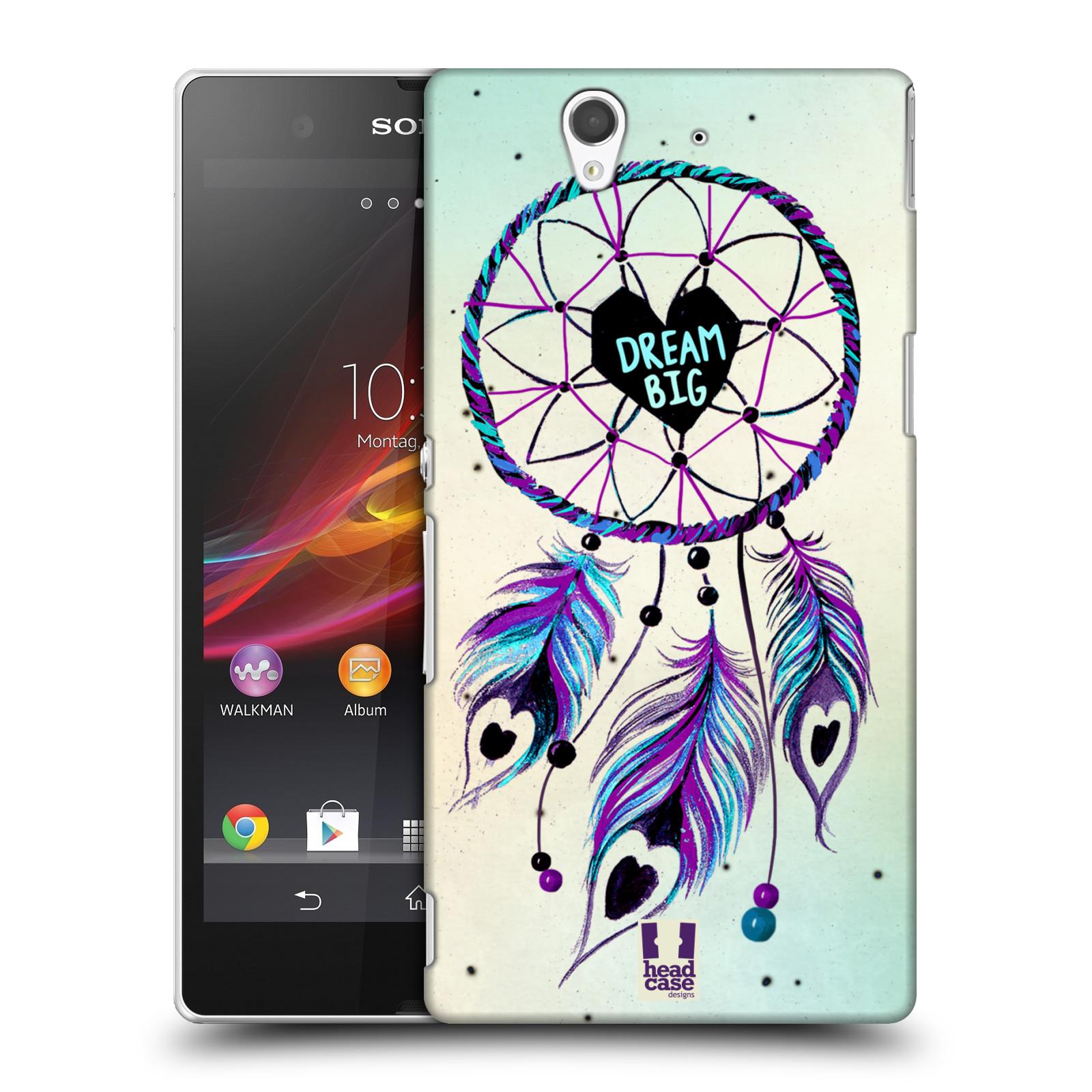Plastové pouzdro na mobil Sony Xperia Z C6603 HEAD CASE Lapač Assorted Dream Big Srdce