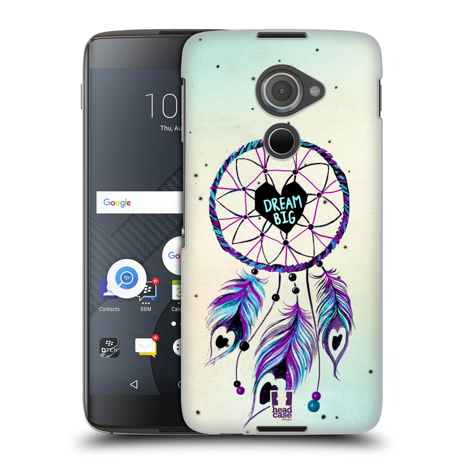 Plastové pouzdro na mobil Blackberry DTEK60 (Argon) - Head Case Lapač Assorted Dream Big Srdce
