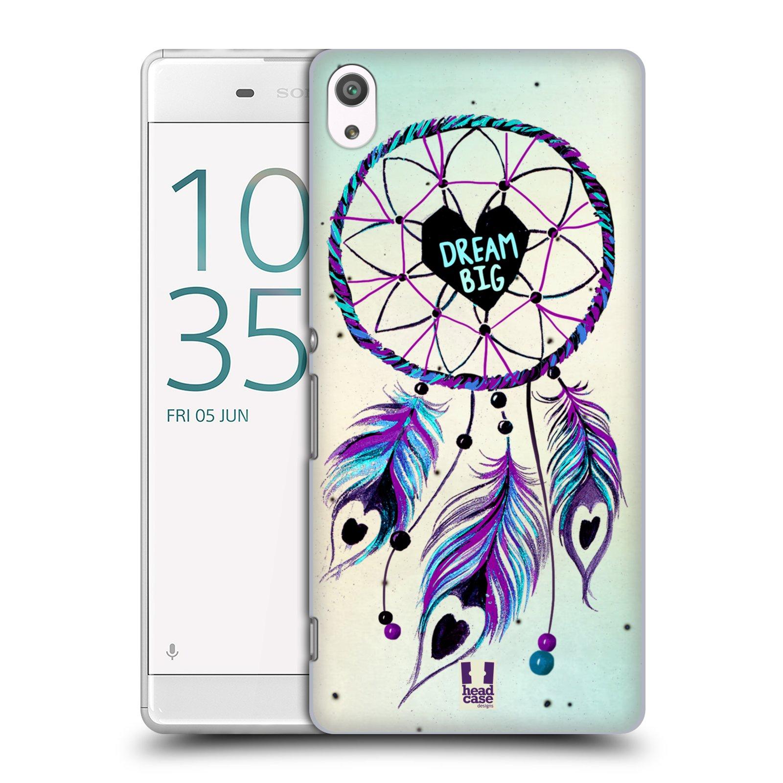 Plastové pouzdro na mobil Sony Xperia XA Ultra HEAD CASE Lapač Assorted Dream Big Srdce