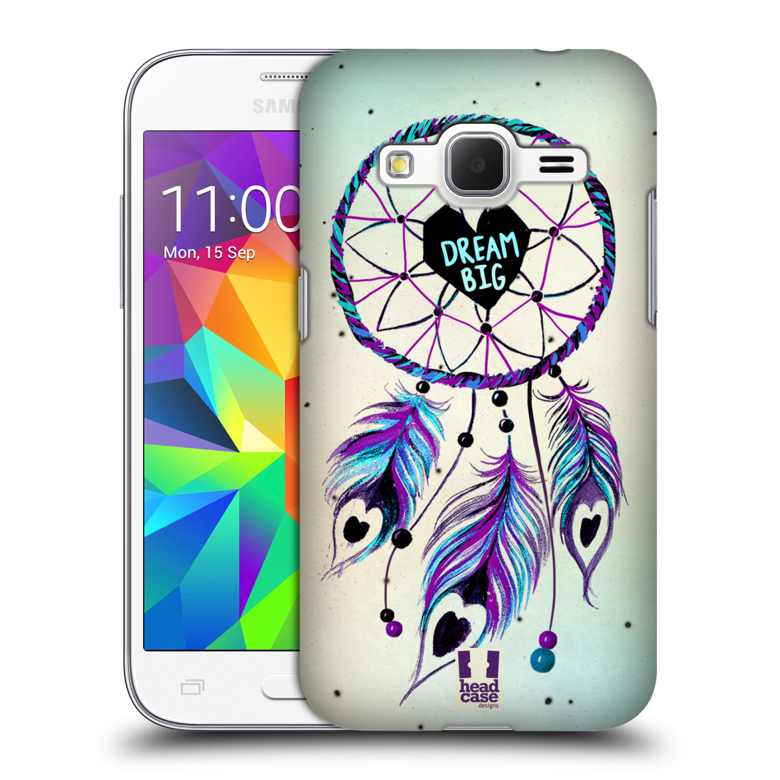 Plastové pouzdro na mobil Samsung Galaxy Core Prime LTE HEAD CASE Lapač Assorted Dream Big Srdce