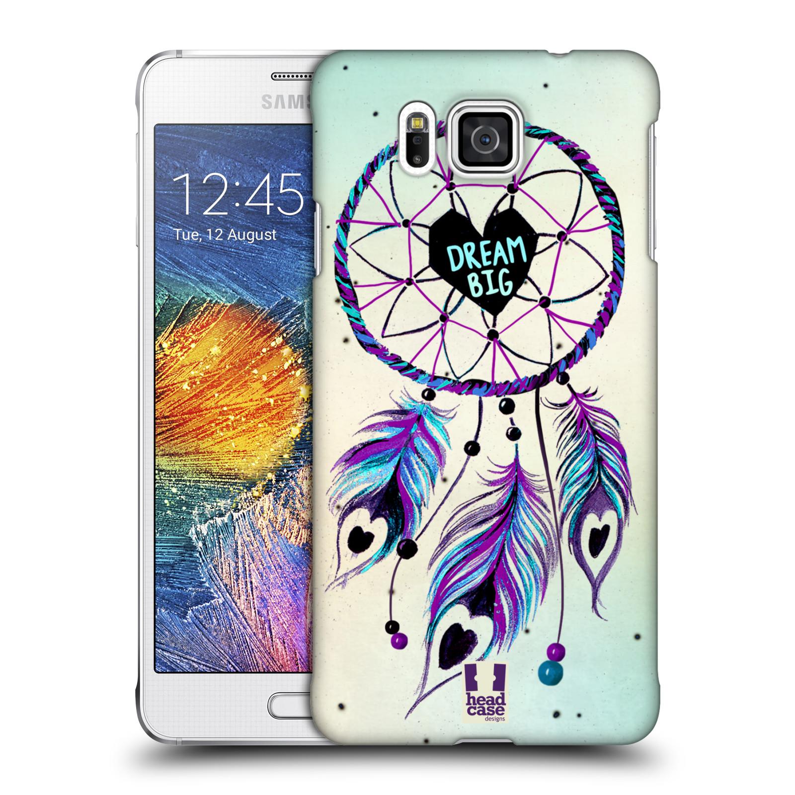Plastové pouzdro na mobil Samsung Galaxy Alpha HEAD CASE Lapač Assorted Dream Big Srdce