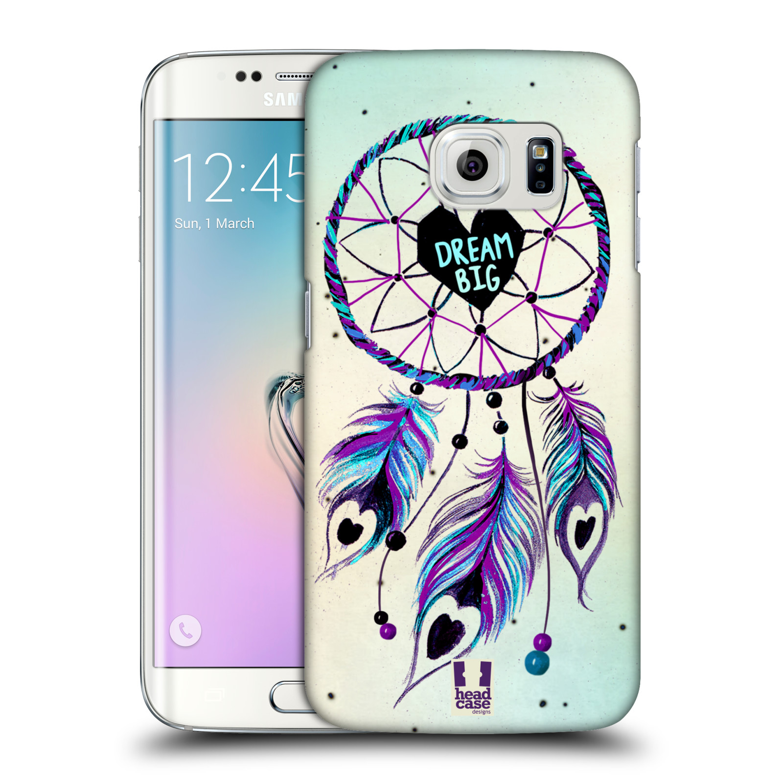 Plastové pouzdro na mobil Samsung Galaxy S6 Edge HEAD CASE Lapač Assorted Dream Big Srdce