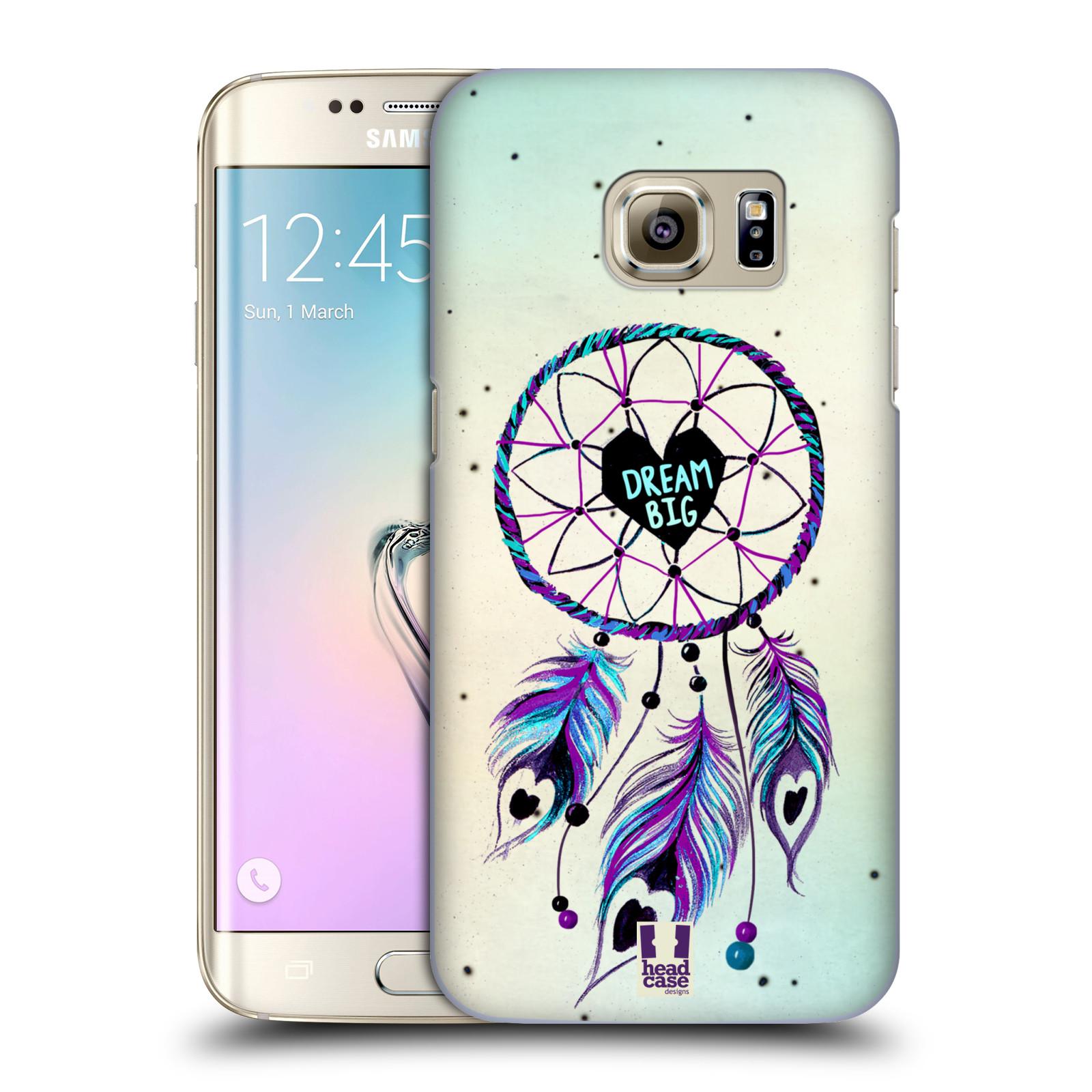 Plastové pouzdro na mobil Samsung Galaxy S7 Edge HEAD CASE Lapač Assorted Dream Big Srdce