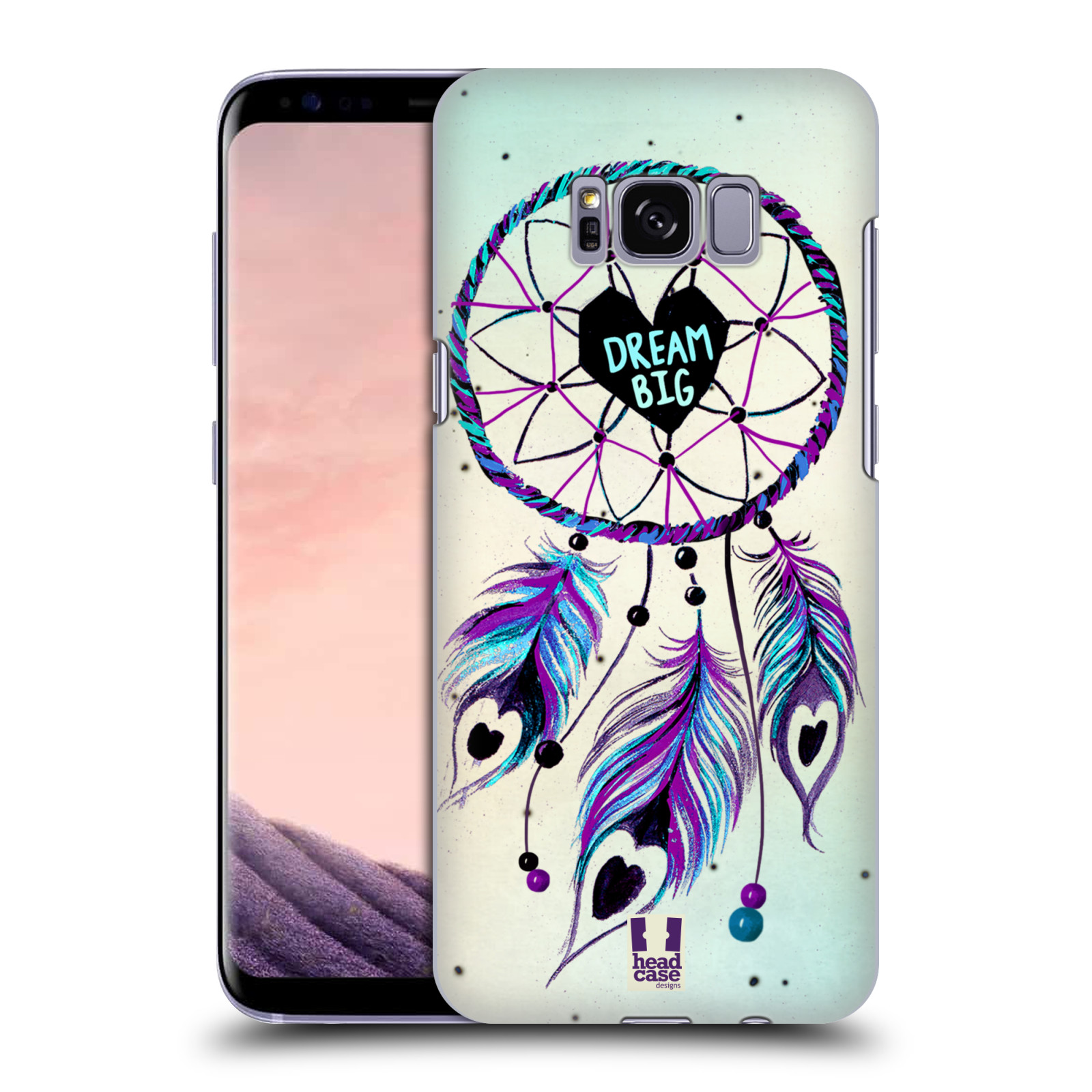 Plastové pouzdro na mobil Samsung Galaxy S8 Head Case Lapač Assorted Dream Big Srdce
