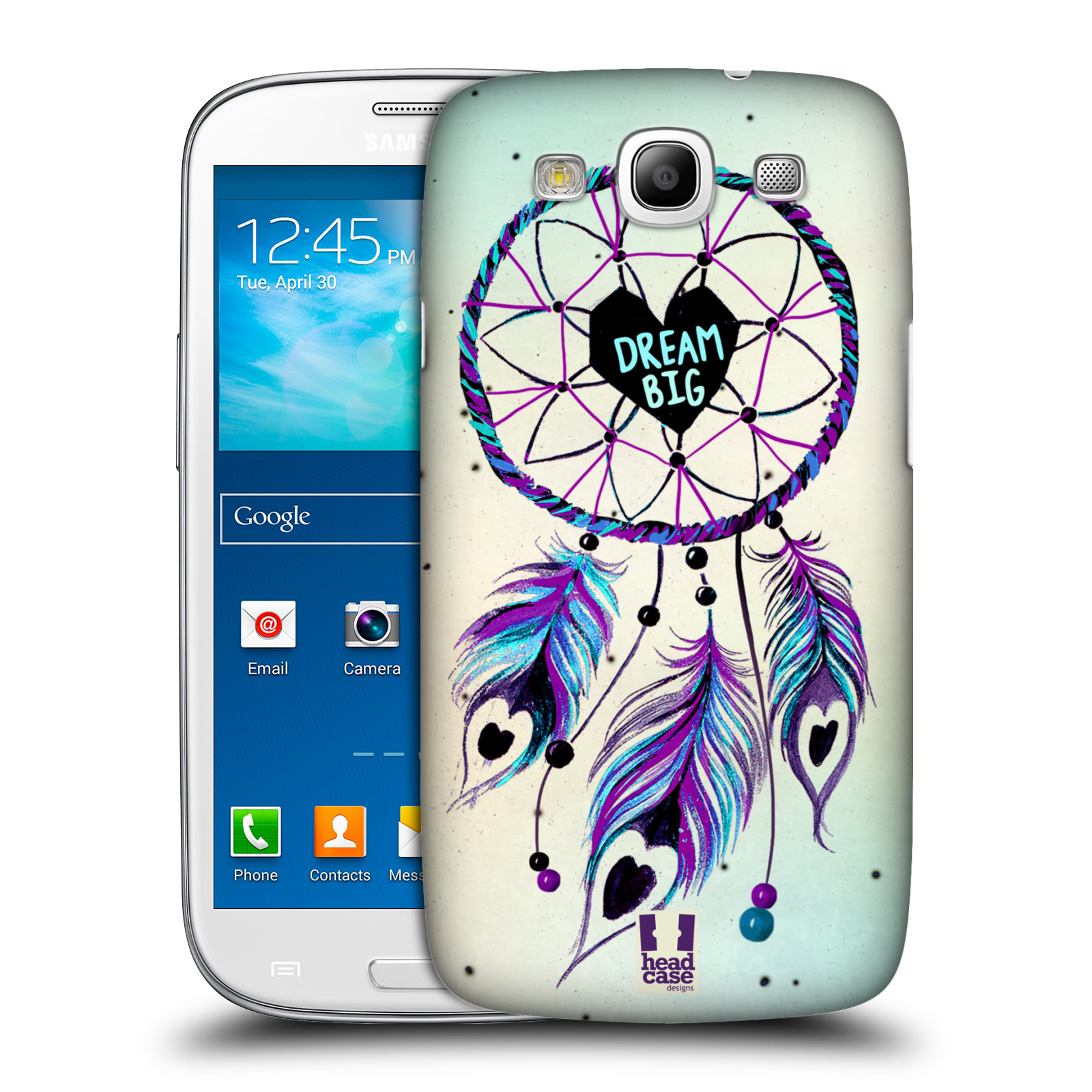 Plastové pouzdro na mobil Samsung Galaxy S III HEAD CASE Lapač Assorted Dream Big Srdce