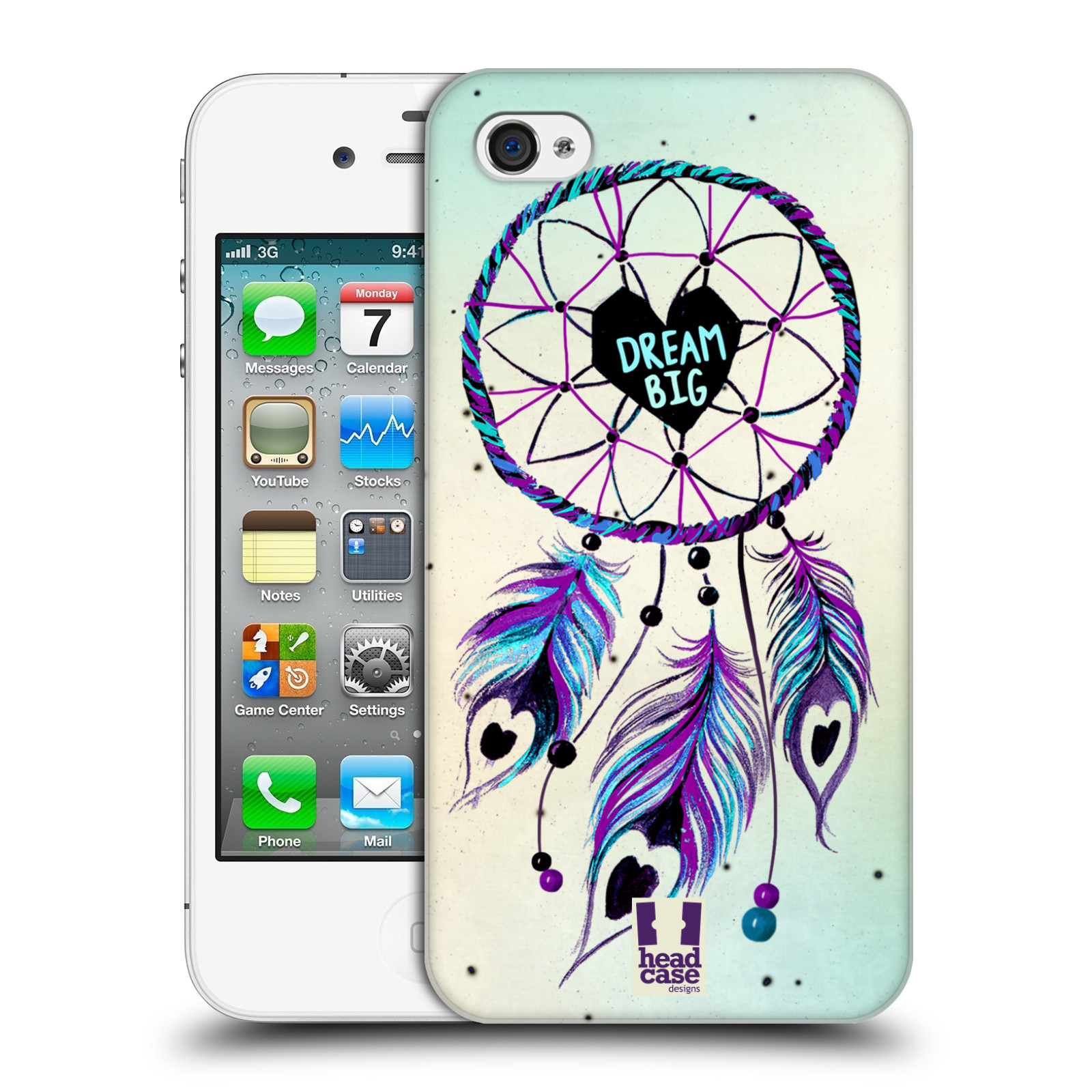 Plastové pouzdro na mobil Apple iPhone 4 a 4S HEAD CASE Lapač Assorted  Dream Big Srdce empty cadc9a0145d