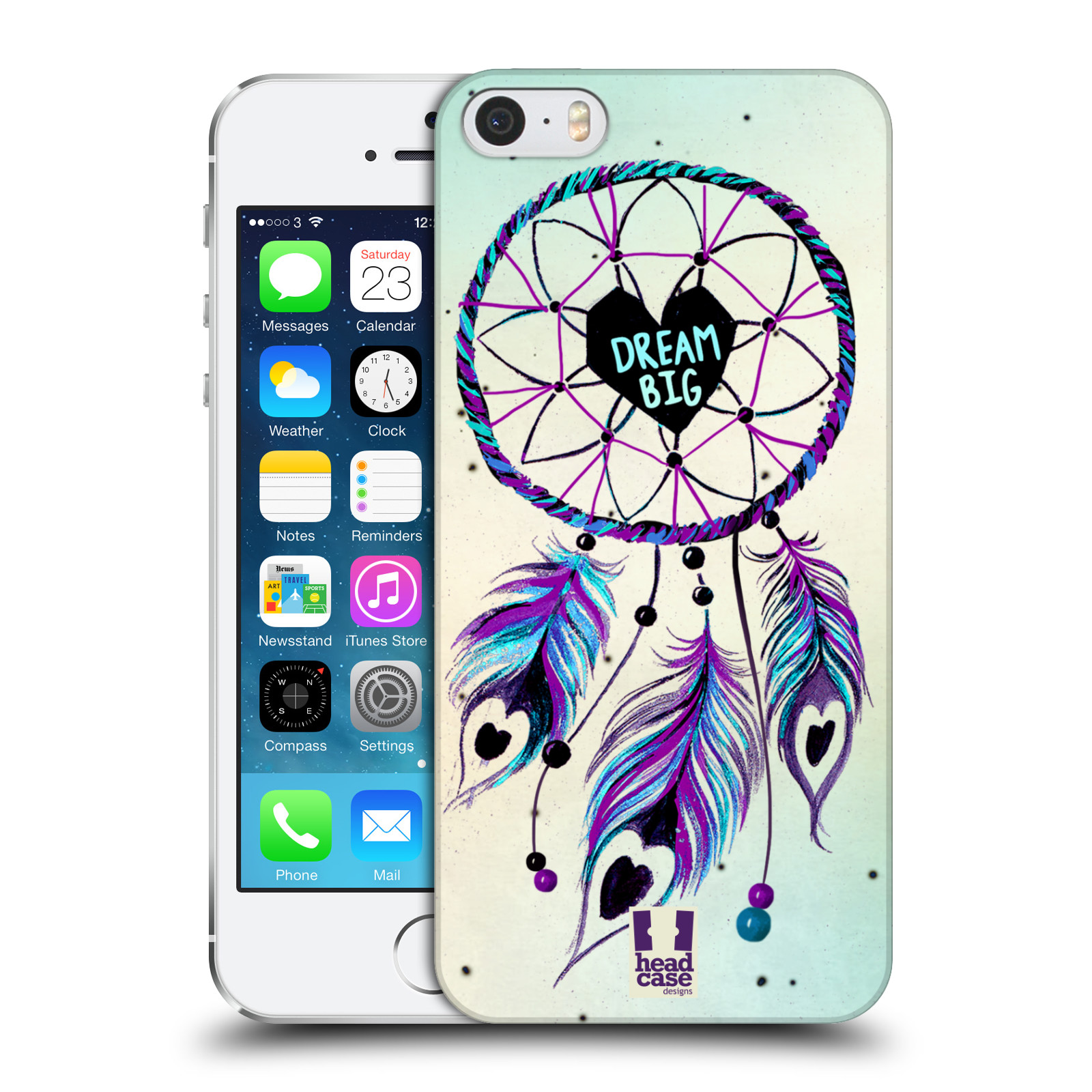 Plastové pouzdro na mobil Apple iPhone SE, 5 a 5S HEAD CASE Lapač Assorted Dream Big Srdce