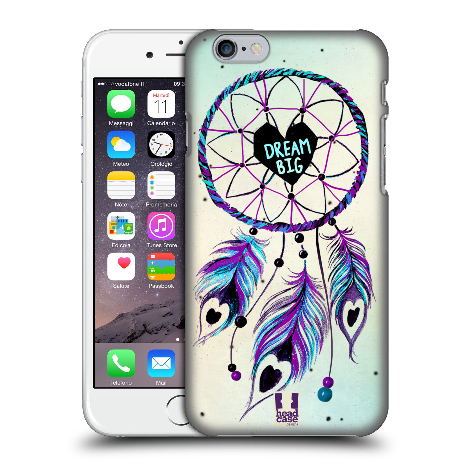 Plastové pouzdro na mobil Apple iPhone 6 HEAD CASE Lapač Assorted Dream Big Srdce