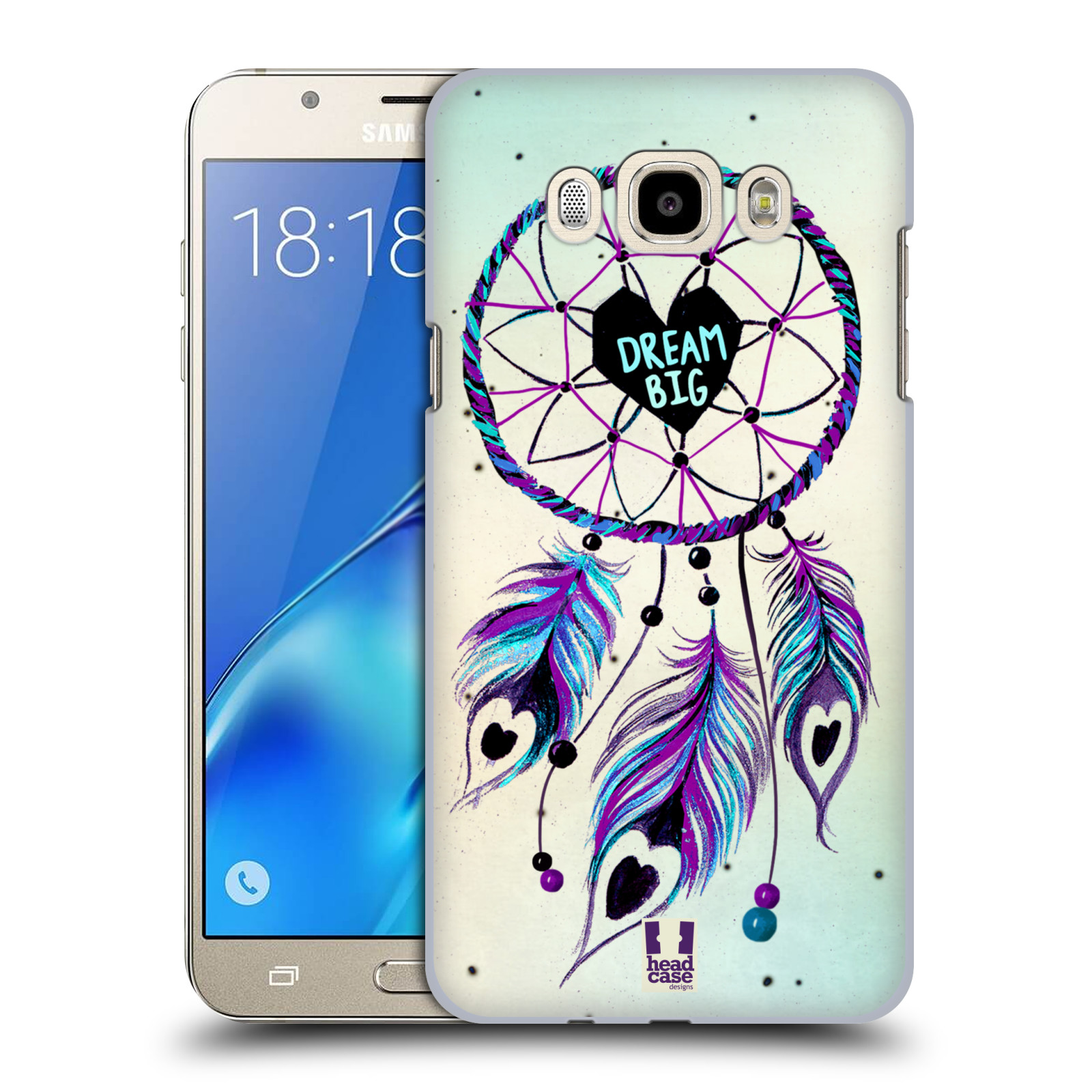 Plastové pouzdro na mobil Samsung Galaxy J7 (2016) HEAD CASE Lapač Assorted Dream Big Srdce