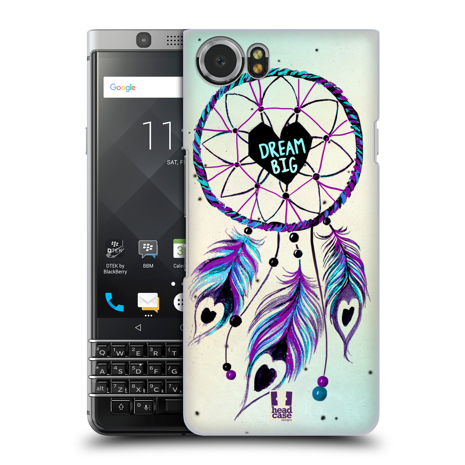 Plastové pouzdro na mobil BlackBerry KEYone - Head Case - Lapač Assorted Dream Big Srdce