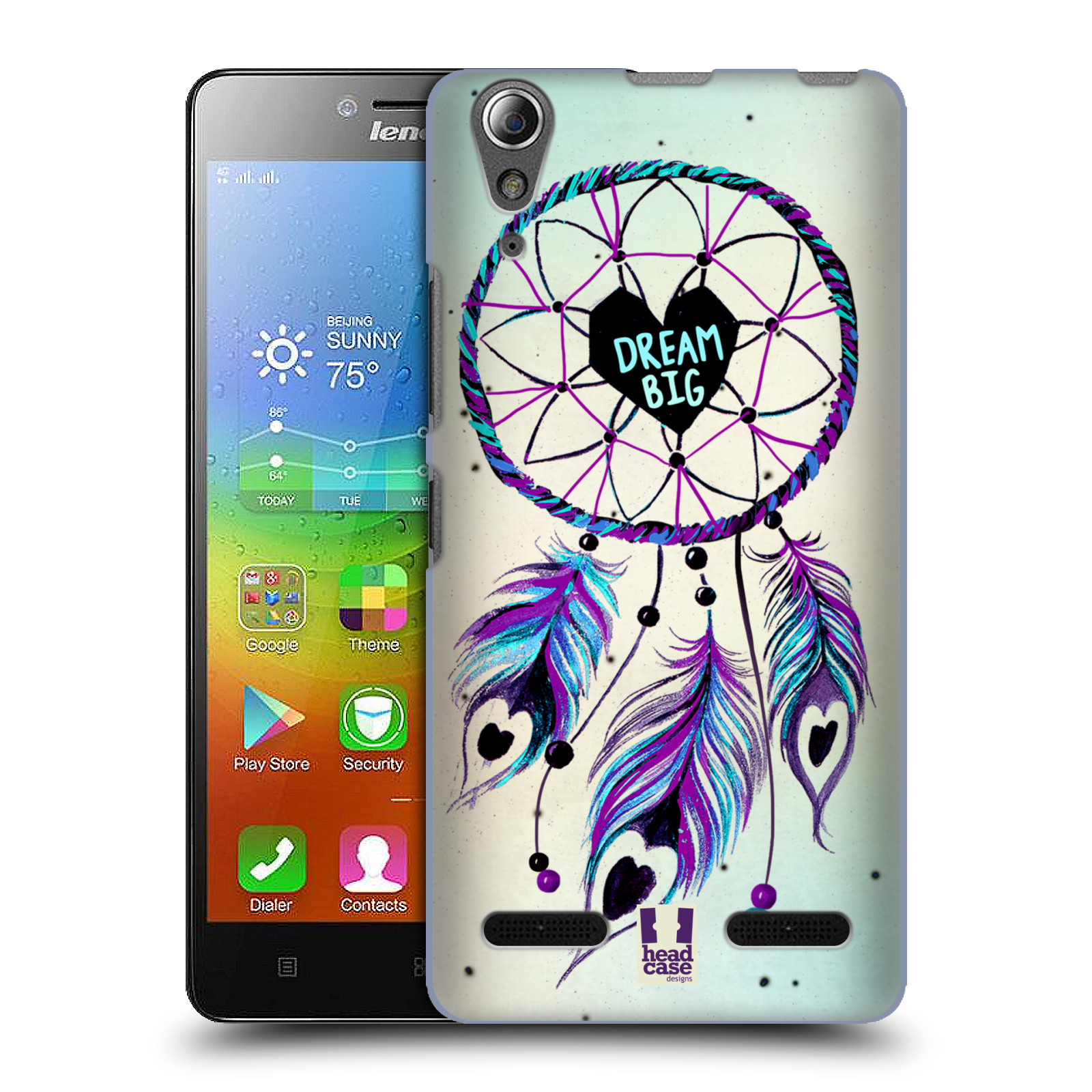 Plastové pouzdro na mobil Lenovo A6000 HEAD CASE Lapač Assorted Dream Big Srdce