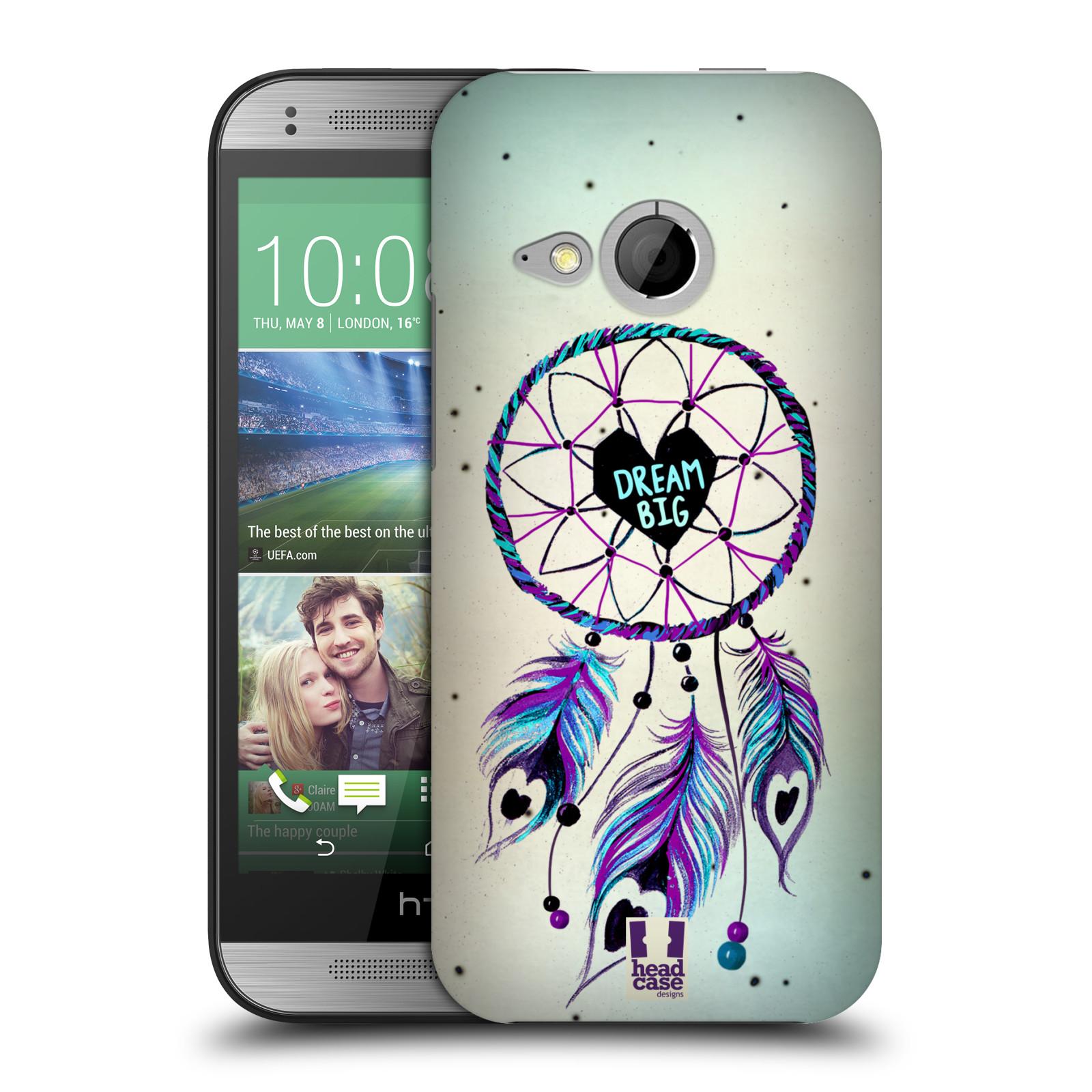 Plastové pouzdro na mobil HTC ONE Mini 2 HEAD CASE Lapač Assorted Dream Big Srdce (Kryt či obal na mobilní telefon HTC ONE Mini 2)