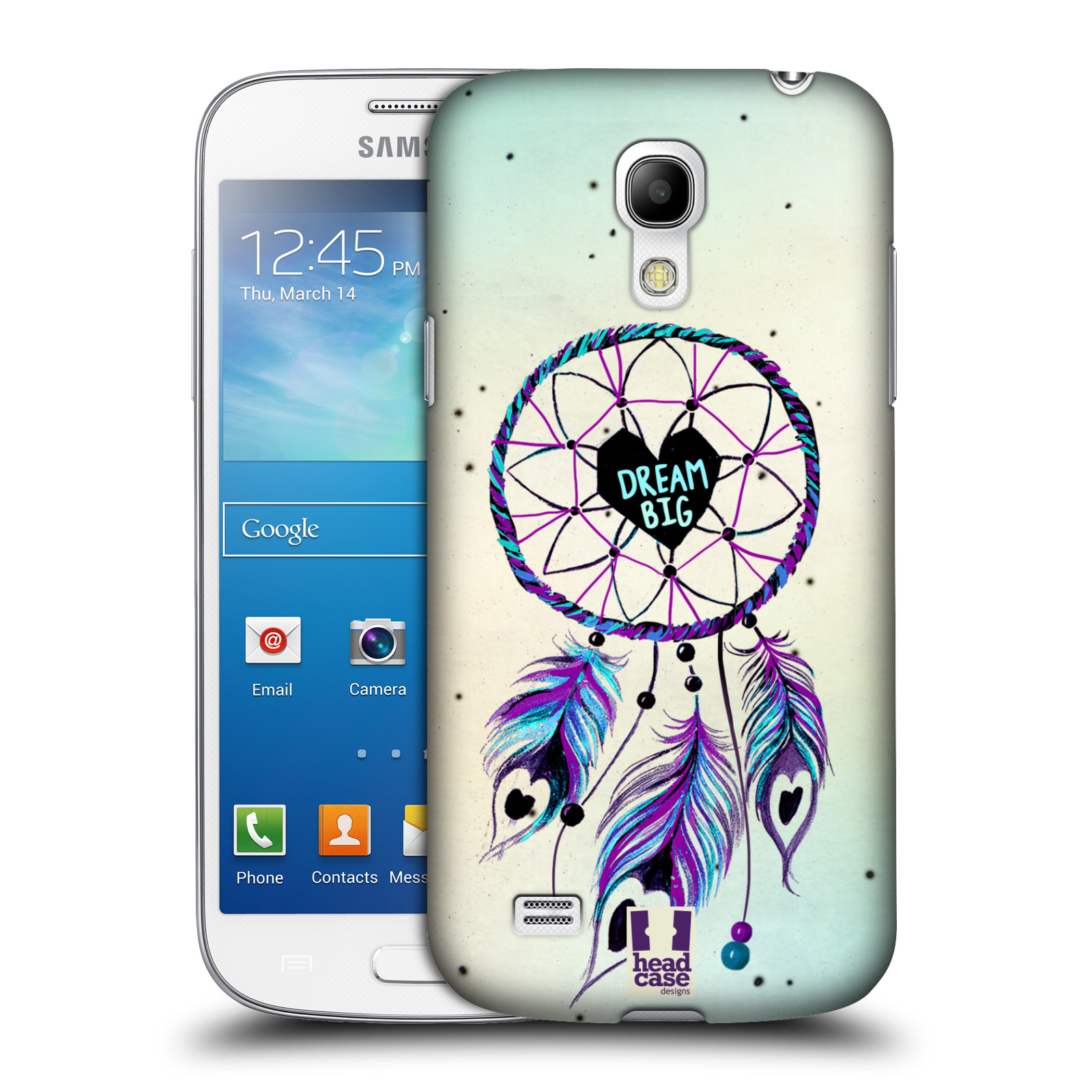 Plastové pouzdro na mobil Samsung Galaxy S4 Mini HEAD CASE Lapač Assorted Dream Big Srdce