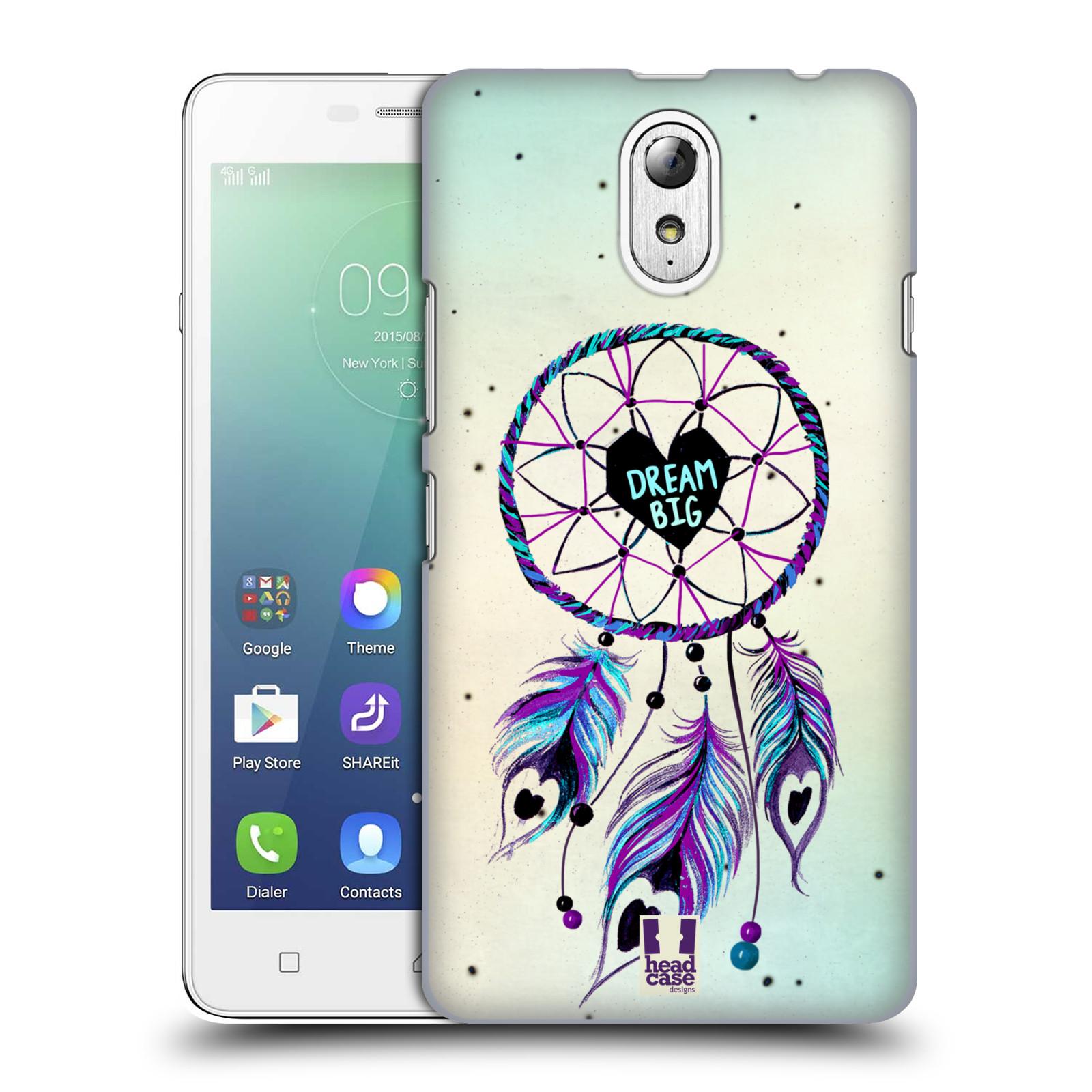 Plastové pouzdro na mobil Lenovo Vibe P1m HEAD CASE Lapač Assorted Dream Big Srdce