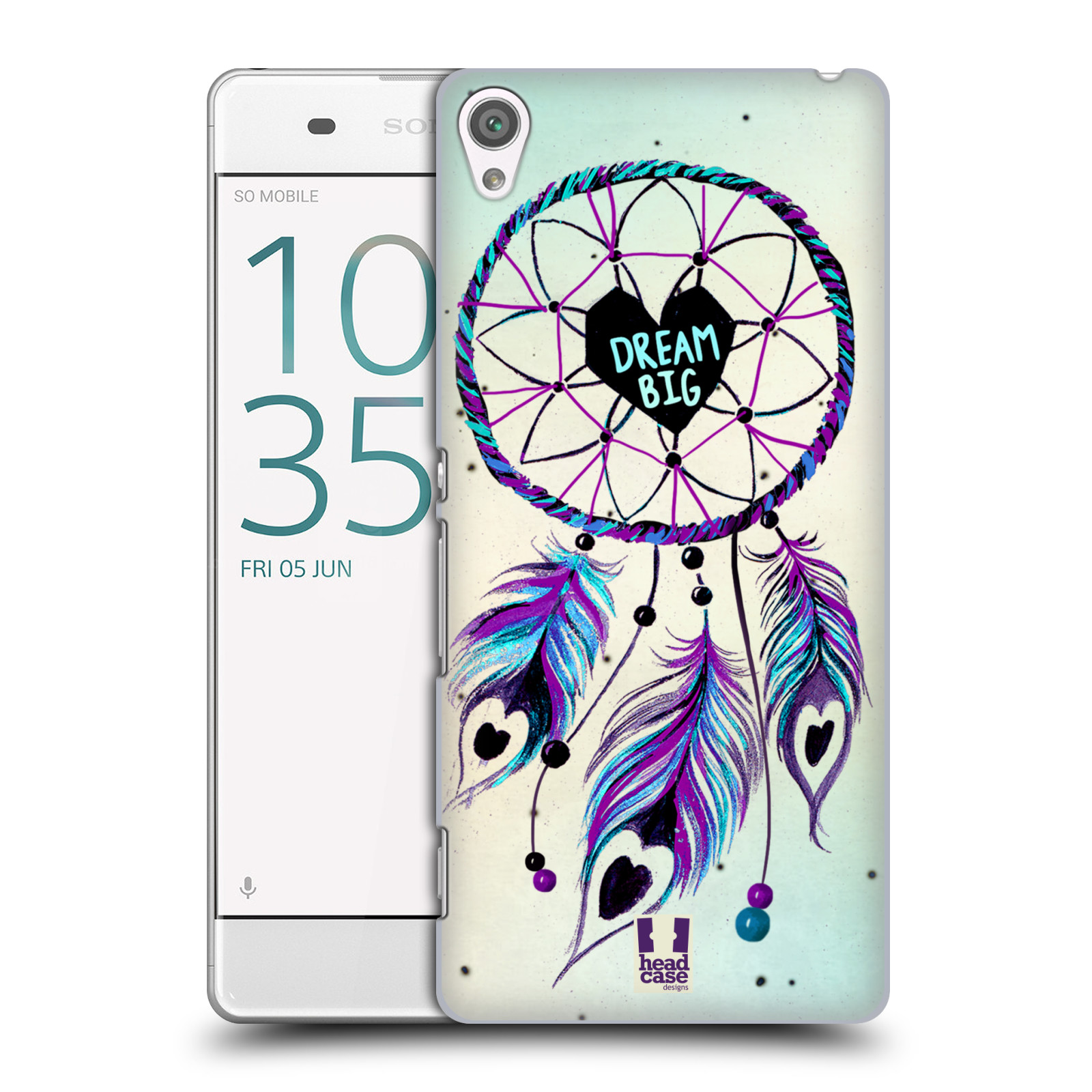Plastové pouzdro na mobil Sony Xperia XA HEAD CASE Lapač Assorted Dream Big Srdce