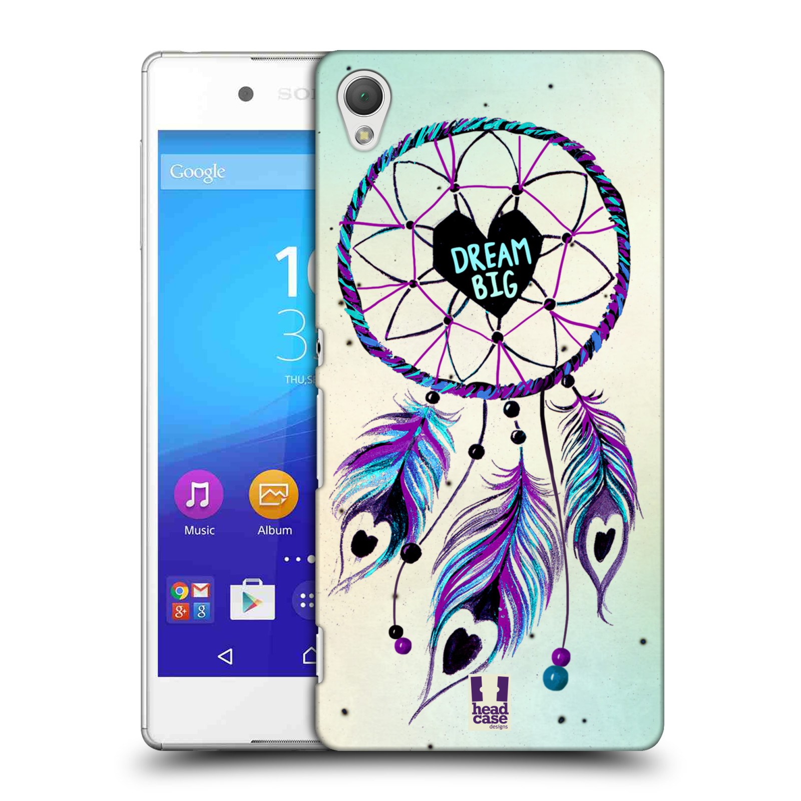 Plastové pouzdro na mobil Sony Xperia Z3+ (Plus) HEAD CASE Lapač Assorted Dream Big Srdce (Kryt či obal na mobilní telefon Sony Xperia Z3+ a Sony Xperia Z4 )